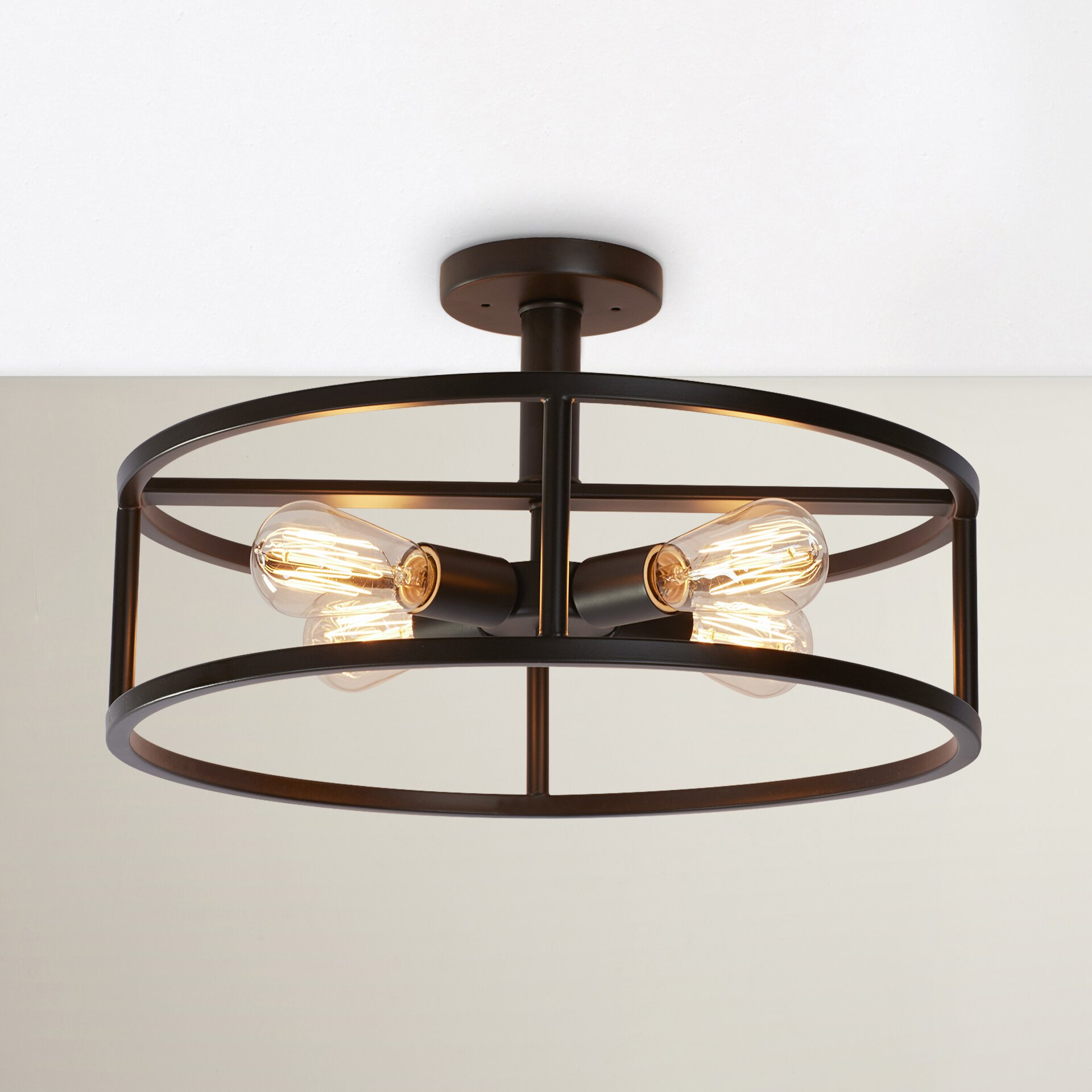 Semi Flush Ceiling Lights Kitchens Oil Rubbed Bronze