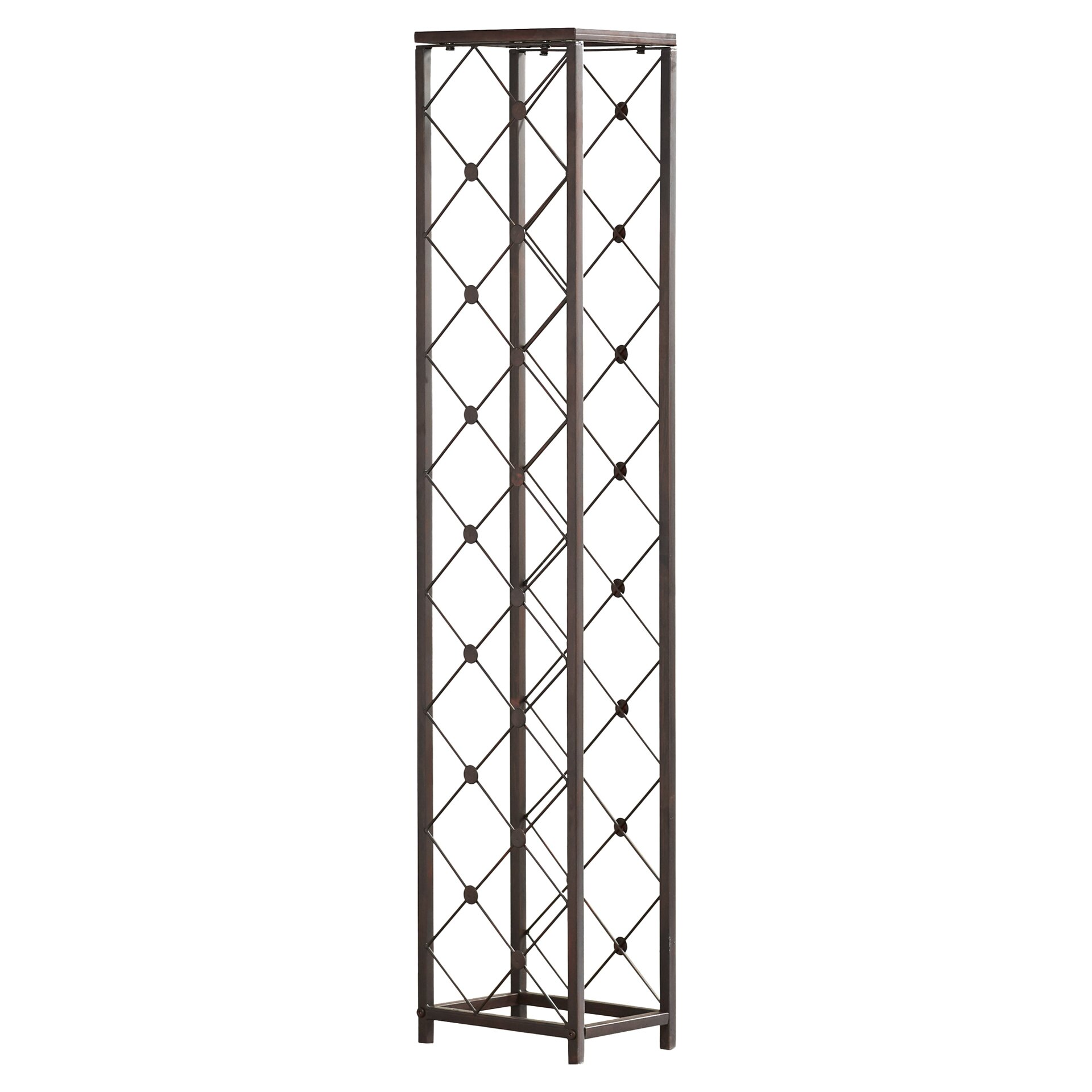 Brayden studio marinello 15 bottle floor wine rack for Floor wine rack
