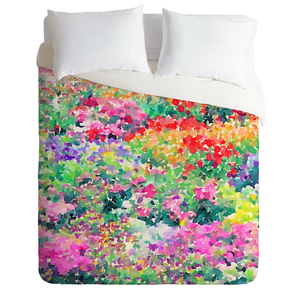 Brayden Studio Fishel Secret Garden 1 Duvet Cover Set