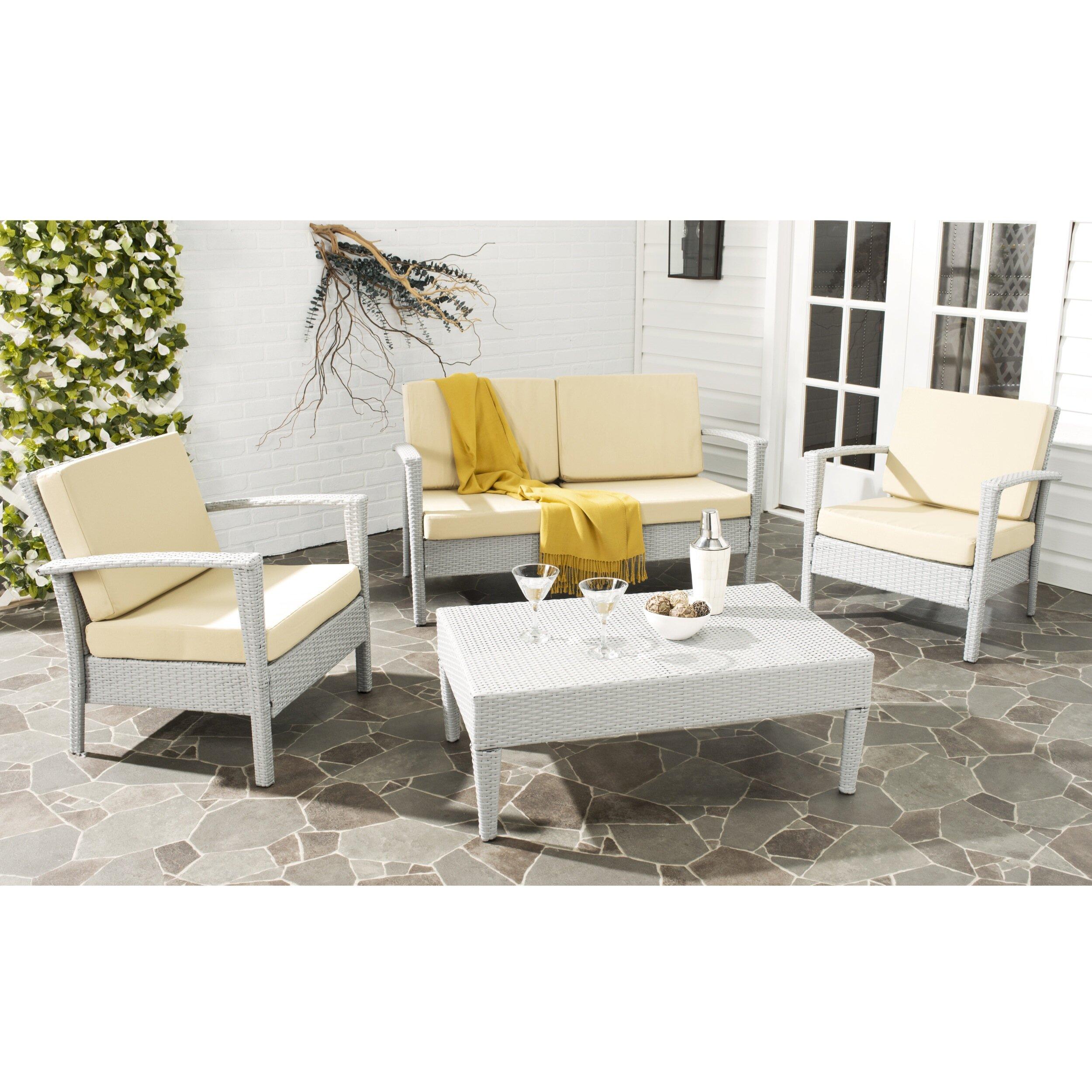 Brayden Studio Piscataway 4 Piece Outdoor Dining Chair