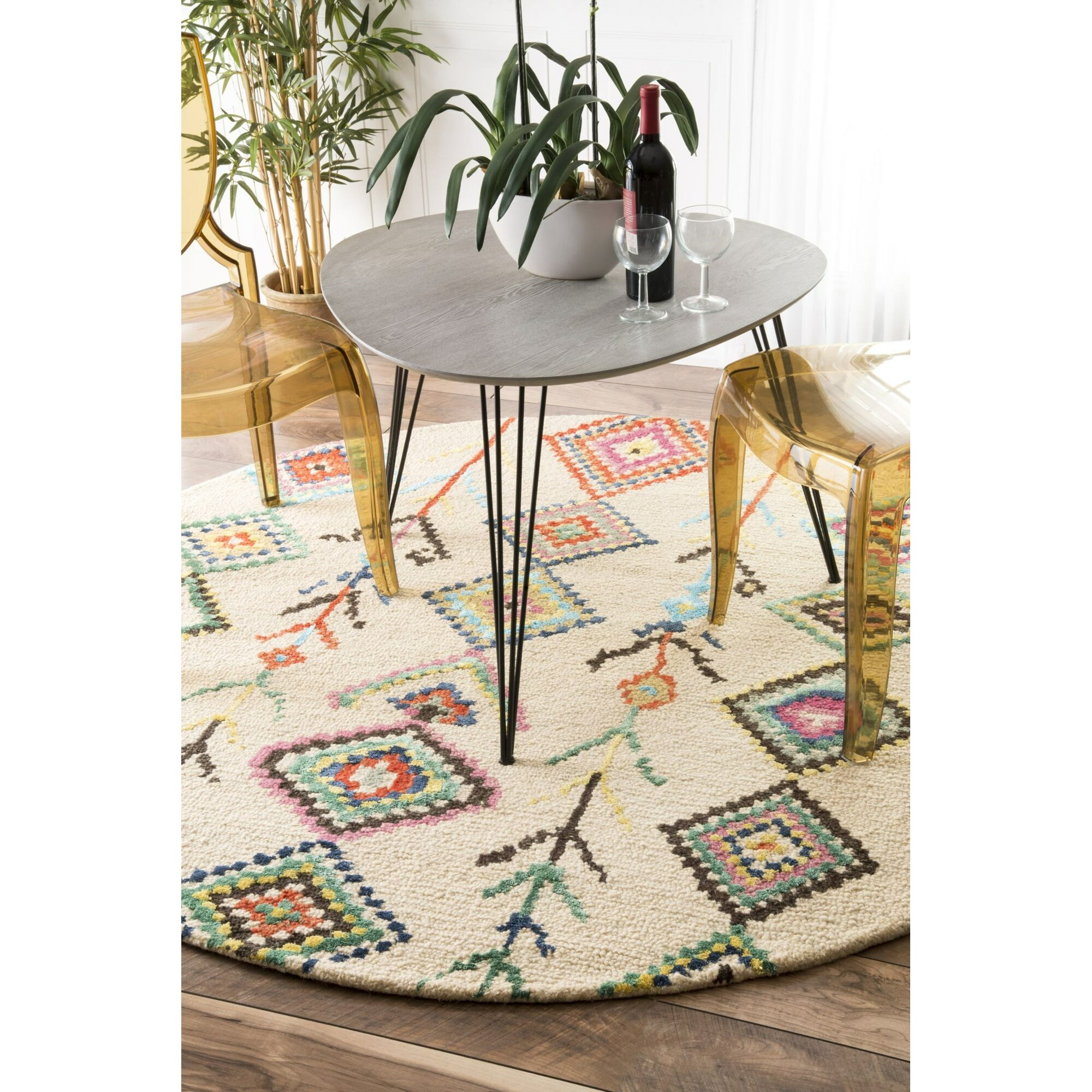 Dog Eating Wool Rug: Brayden Studio Cotto Marbella Belini Area Rug & Reviews