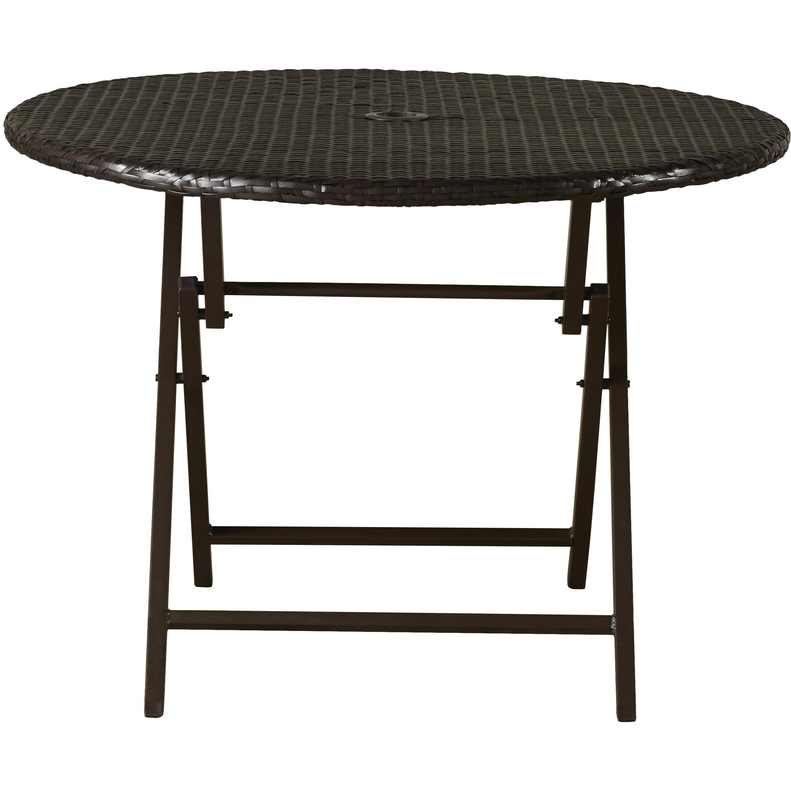 Brayden Studio Crosson Outdoor Wicker Dining Table