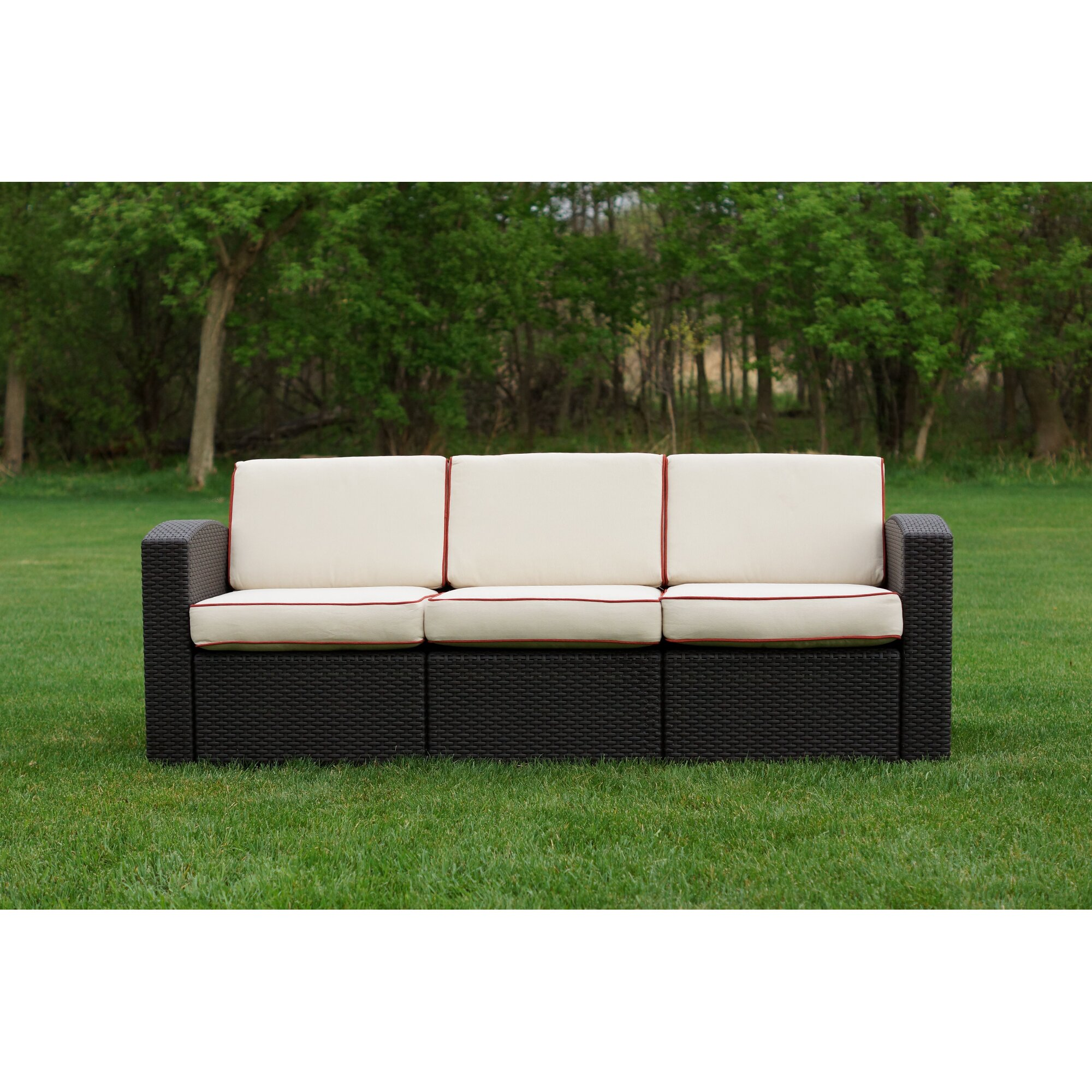 Brayden studio loggins patio sofa with cushion reviews for Outdoor furniture reviews