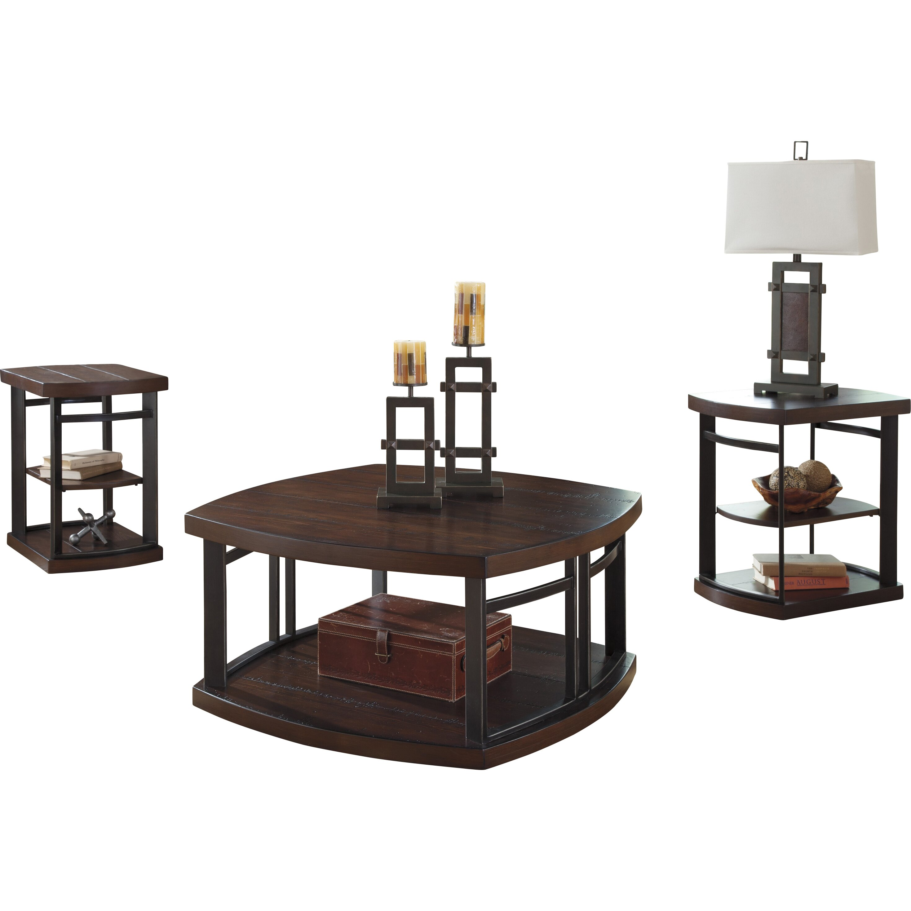 Brayden Studio Dube 3 Piece Coffee Table Set & Reviews
