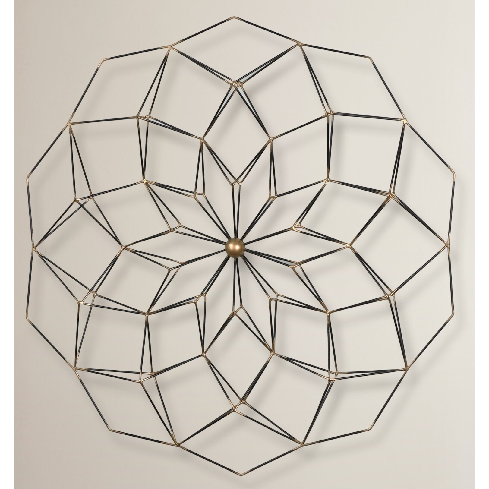Brayden Studio Geometric Floral Framed Wall Art & Reviews
