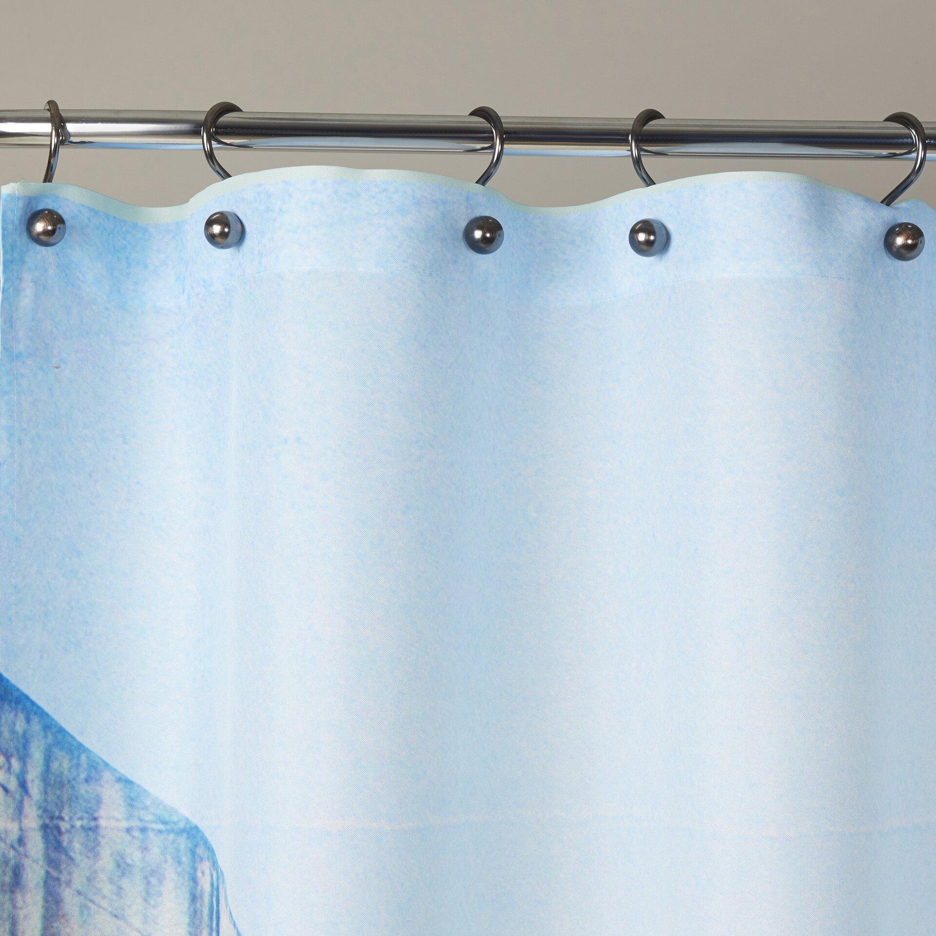 Churchill iron curtain speech cartoon - Walmart Purple Shower Curtain