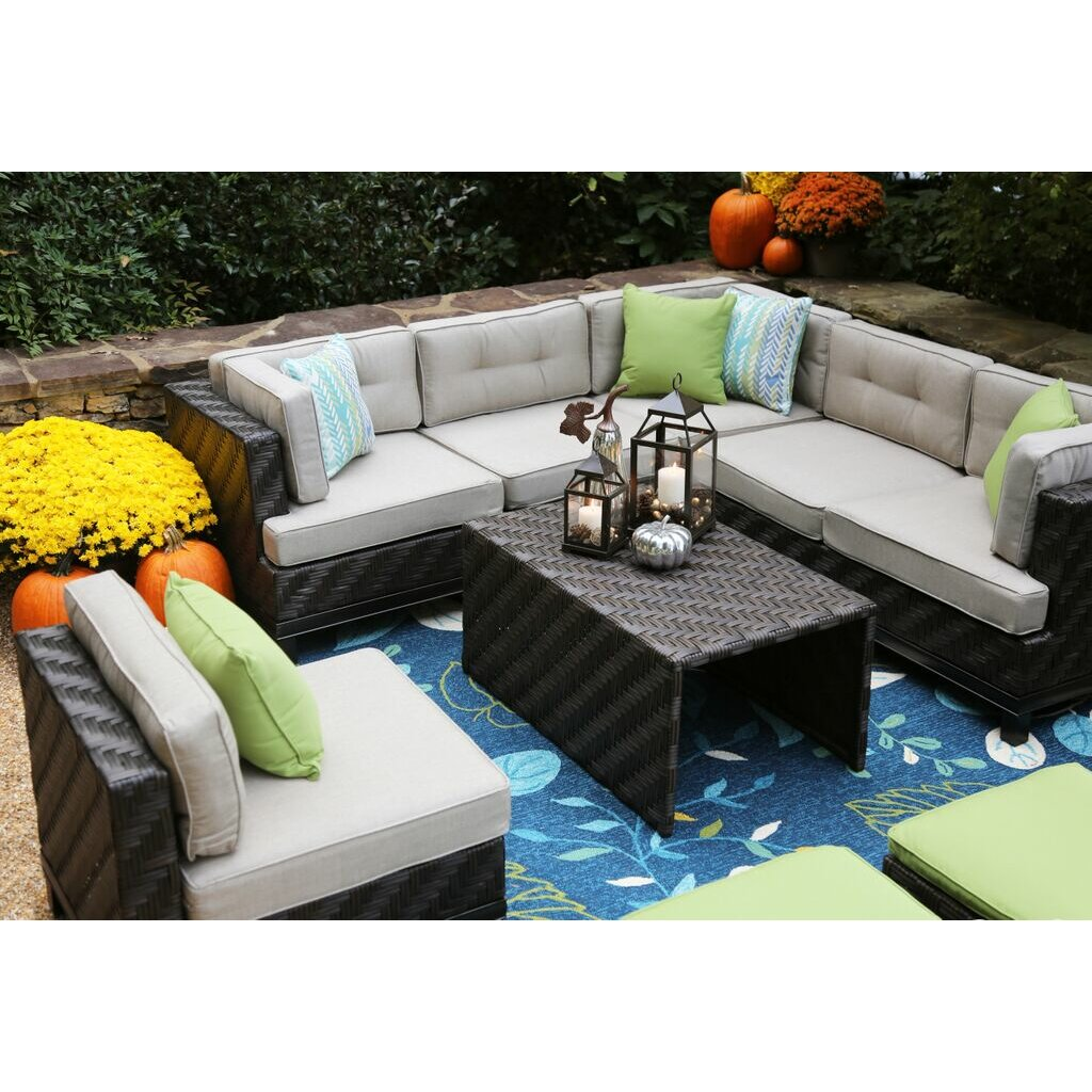 Brayden Studio Kiana 7 Piece Lounge Seating Group With Cushions Reviews