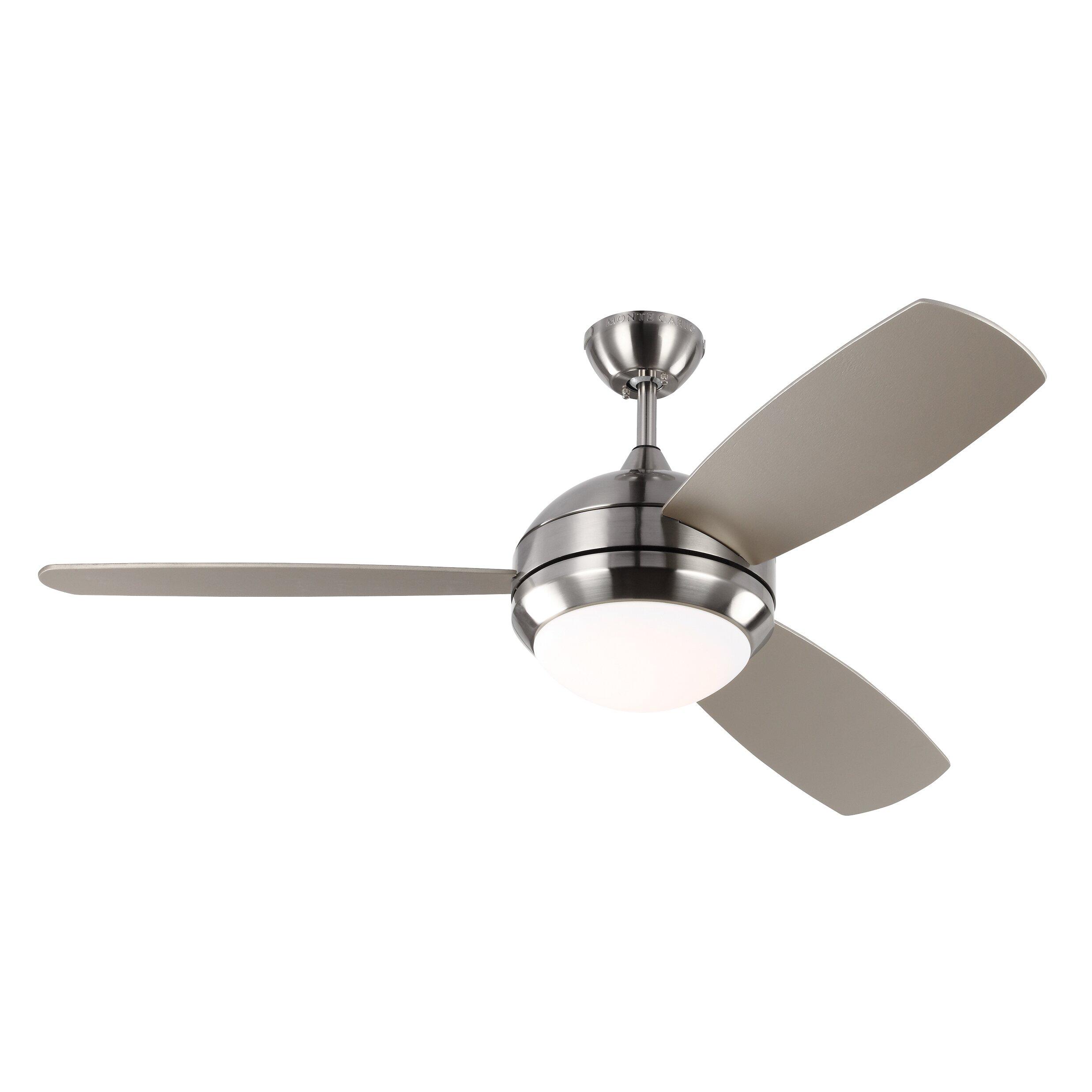 Brayden Studio 52 Quot Lamptrai 3 Blade Ceiling Fan With
