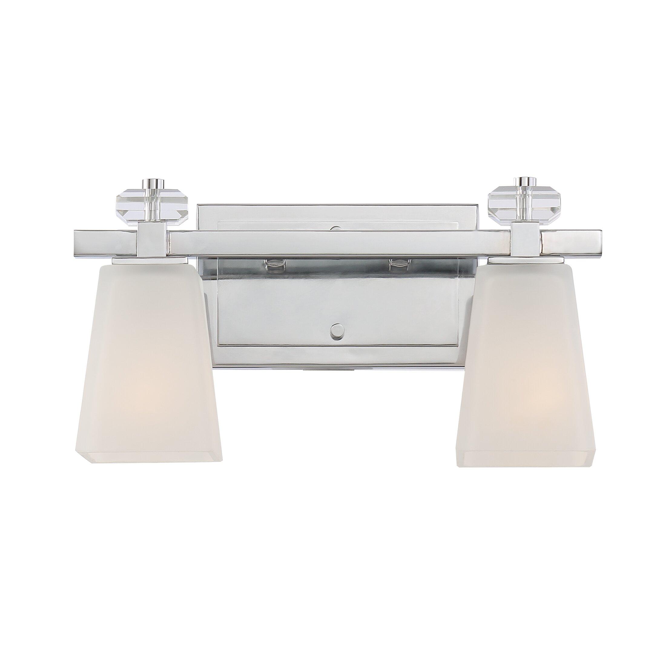 Vanity With Studio Lights : Brayden Studio Caladendra 2 Light Vanity Light Wayfair