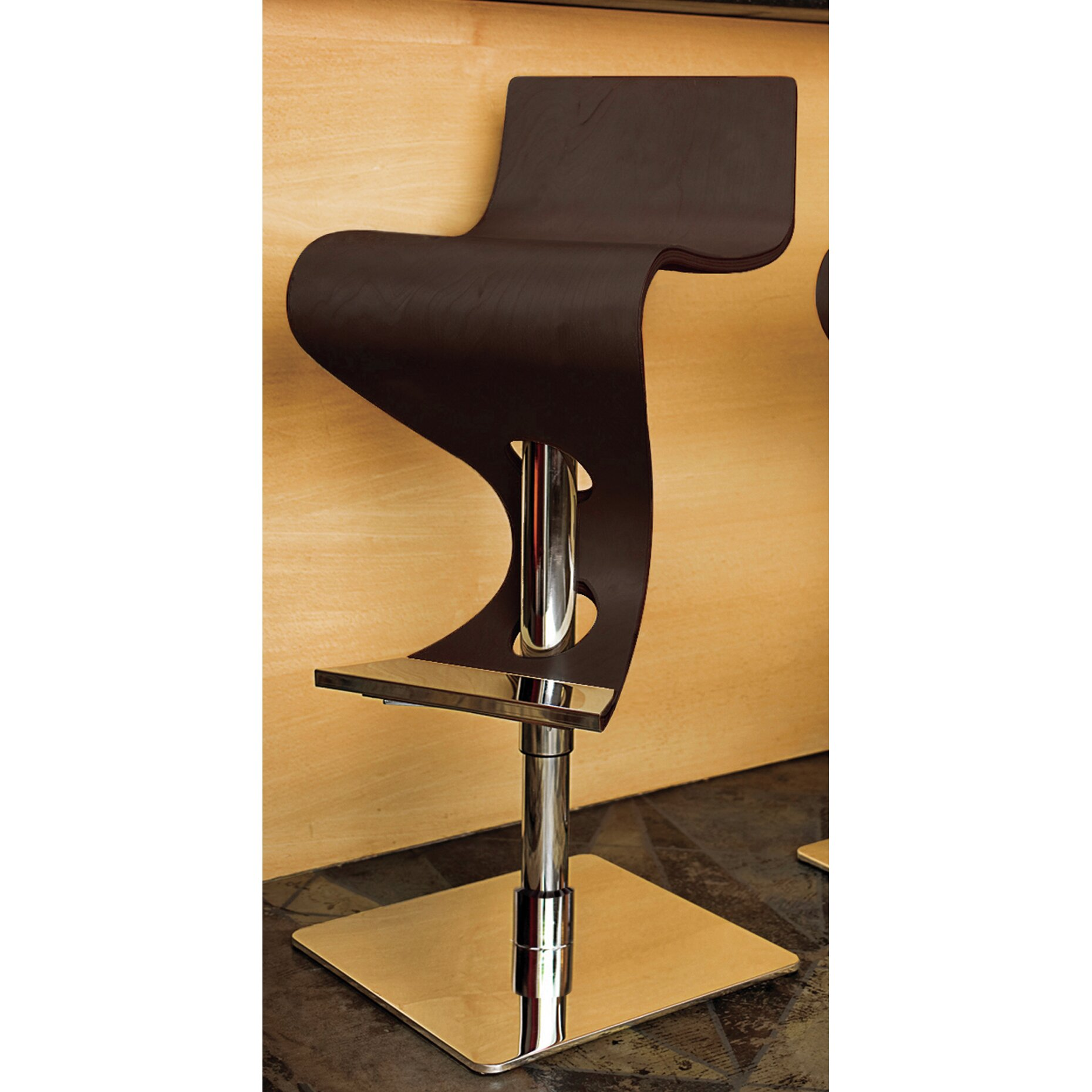 Wade logan the adjustable height swivel bar stool for Counter height swivel bar stools