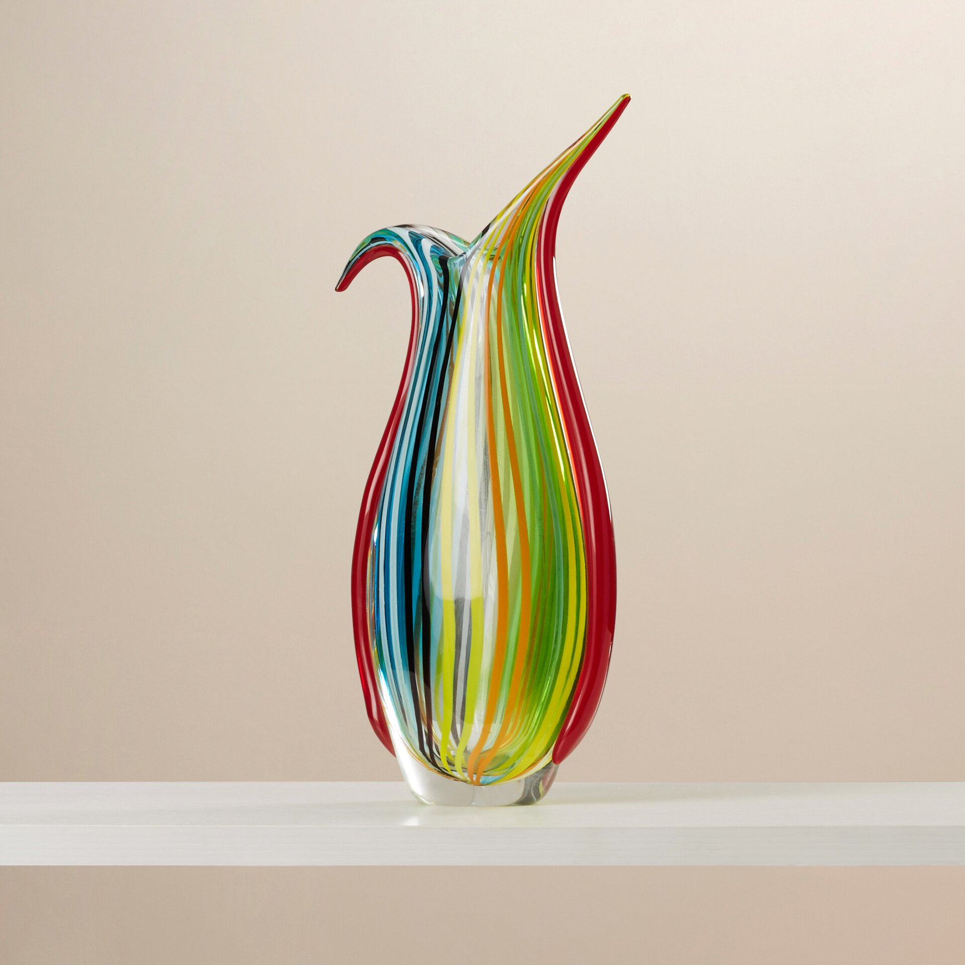 Wade Logan East Hewish Glass Vase Amp Reviews Wayfair