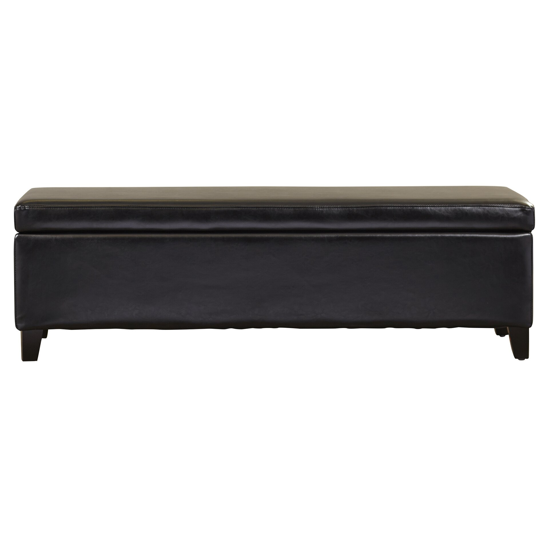 Wade Logan Jesus Bonded Leather Storage Ottoman Bench Reviews Wayfair
