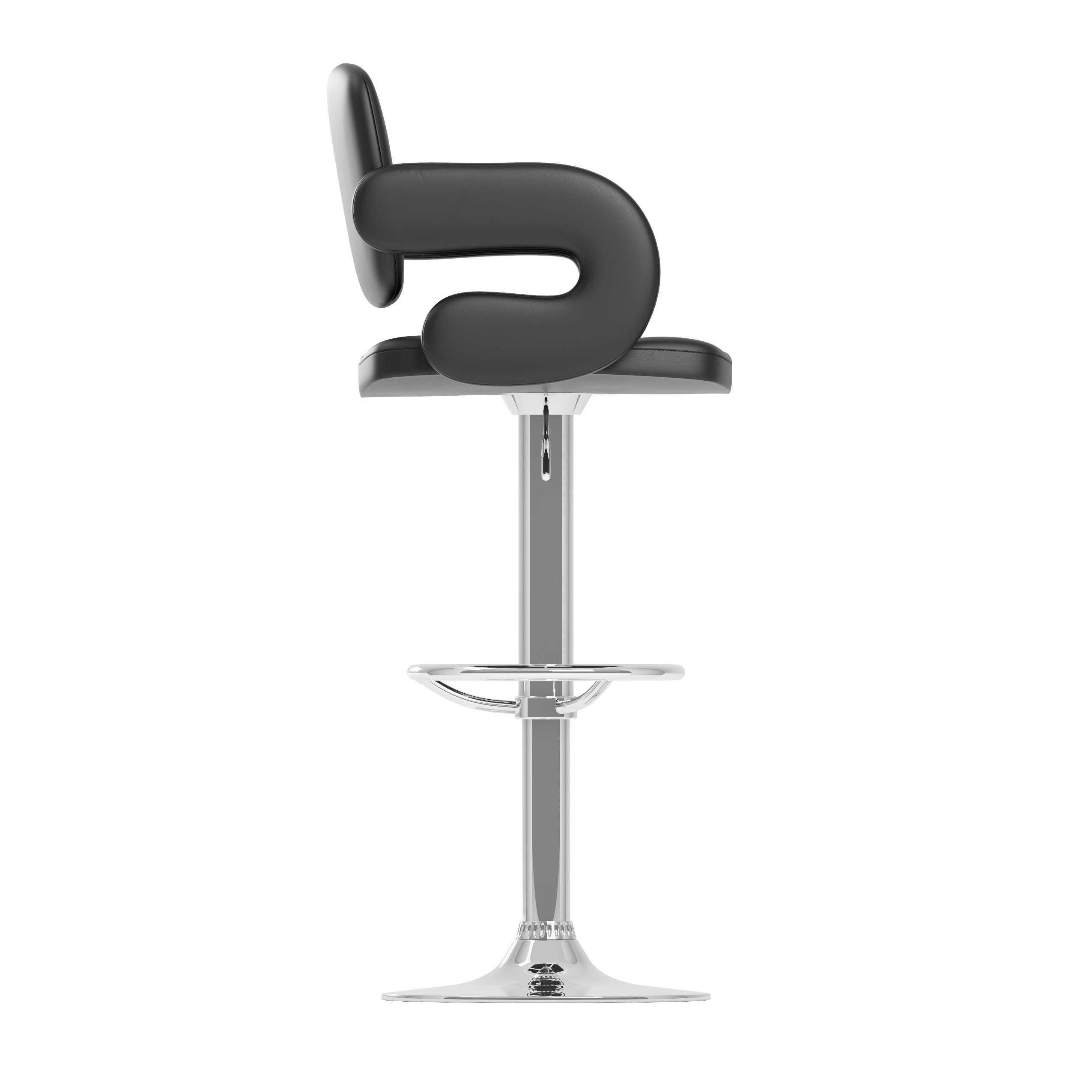 Wade Logan David Adjustable Height Swivel Bar Stool