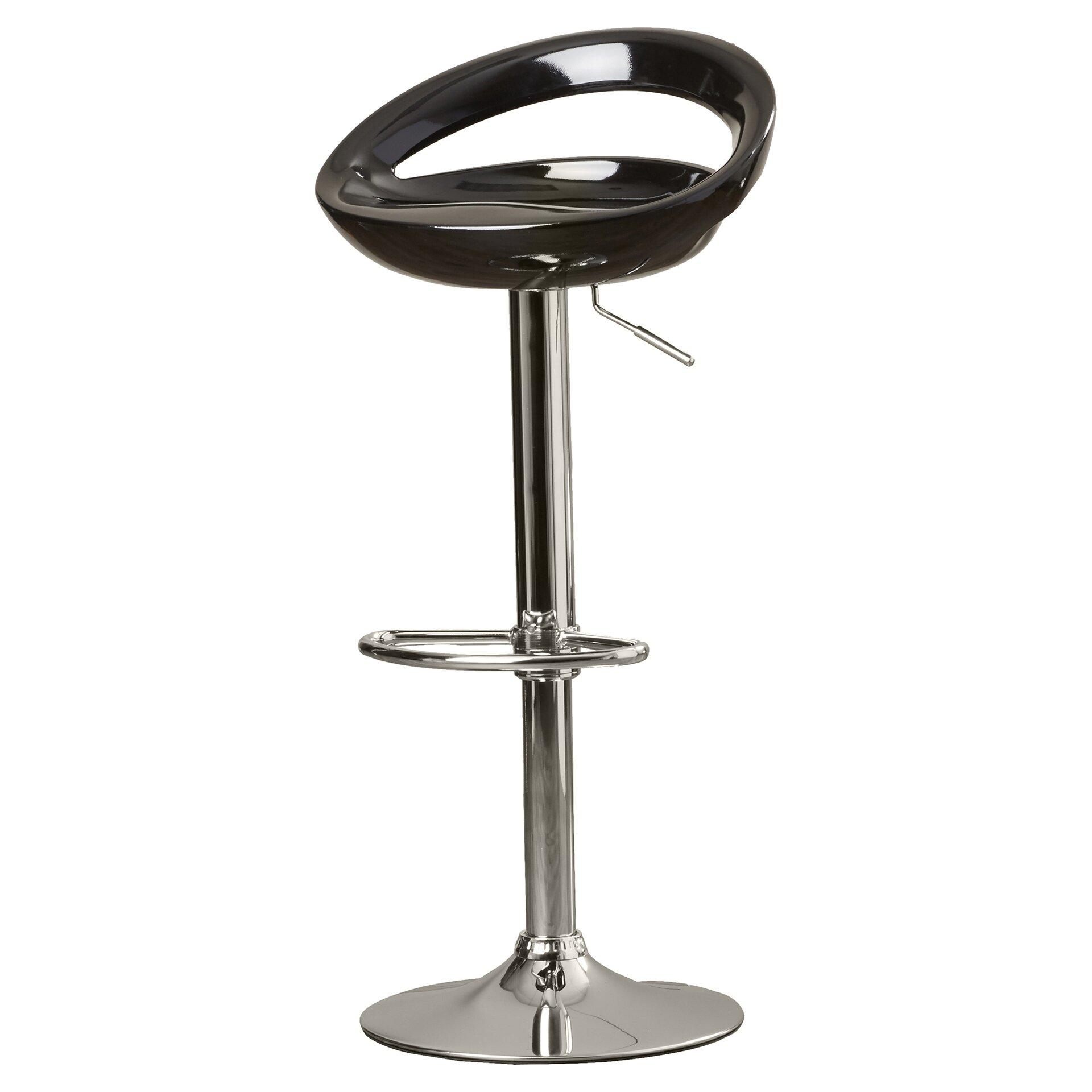 Wade logan cedar park adjustable height bar stool for Adjustable height bar stools