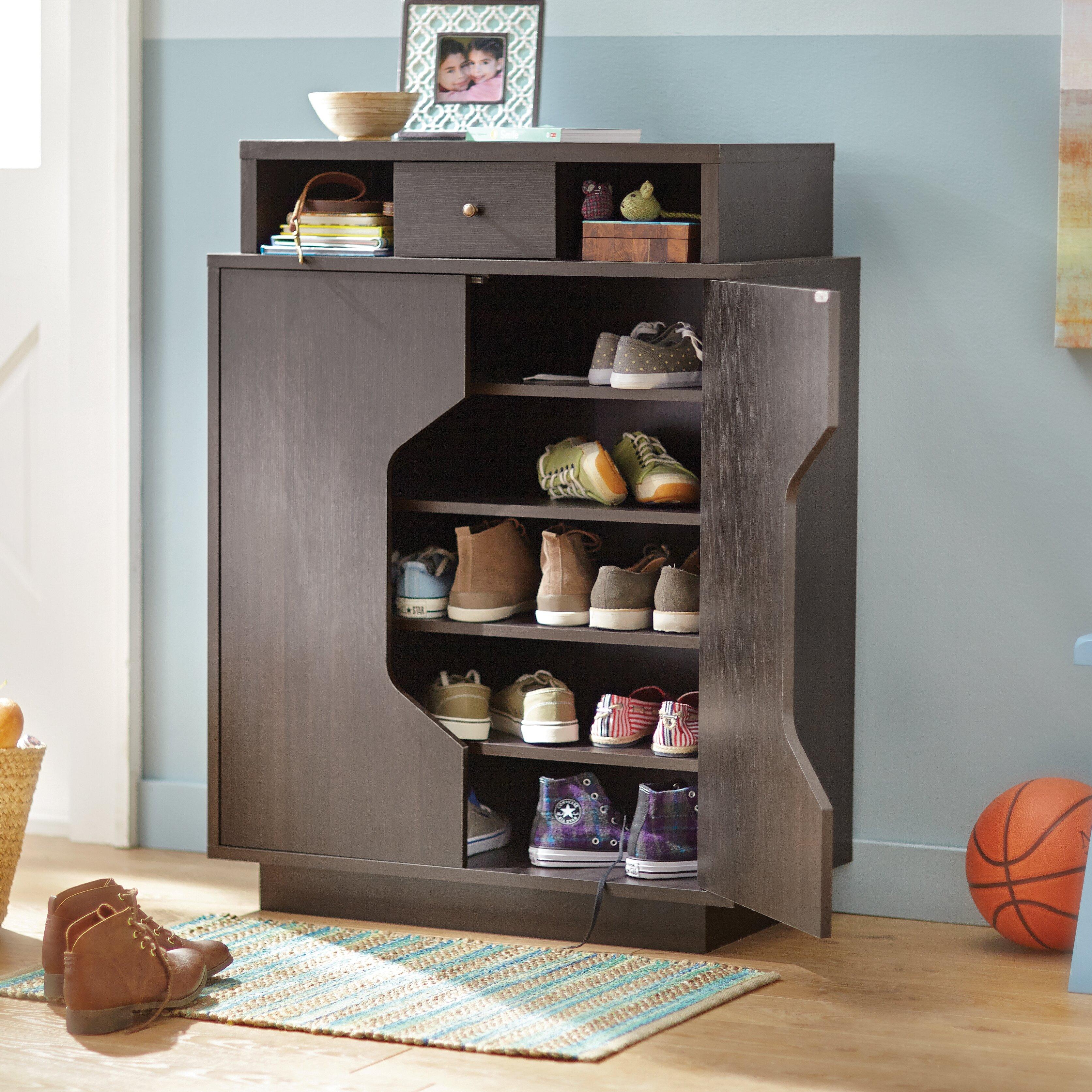 Wade logan redland redline 20 pair shoe storage cabinet reviews wayfair - How to build shoe storage cabinet ...
