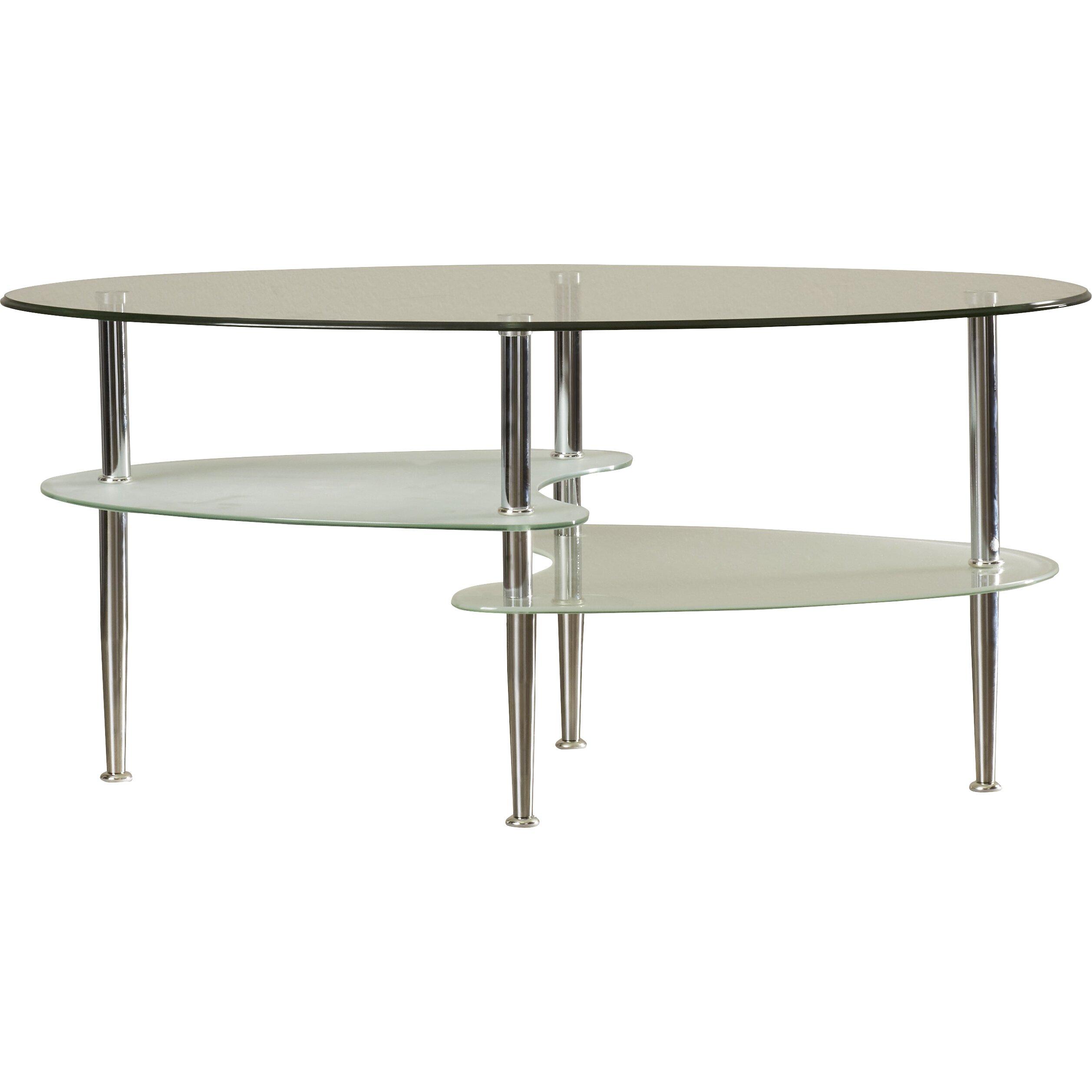 Wayfair Oval Coffee Table Wade Logan Jean Glass Oval Coffee Table Reviews Wayfair