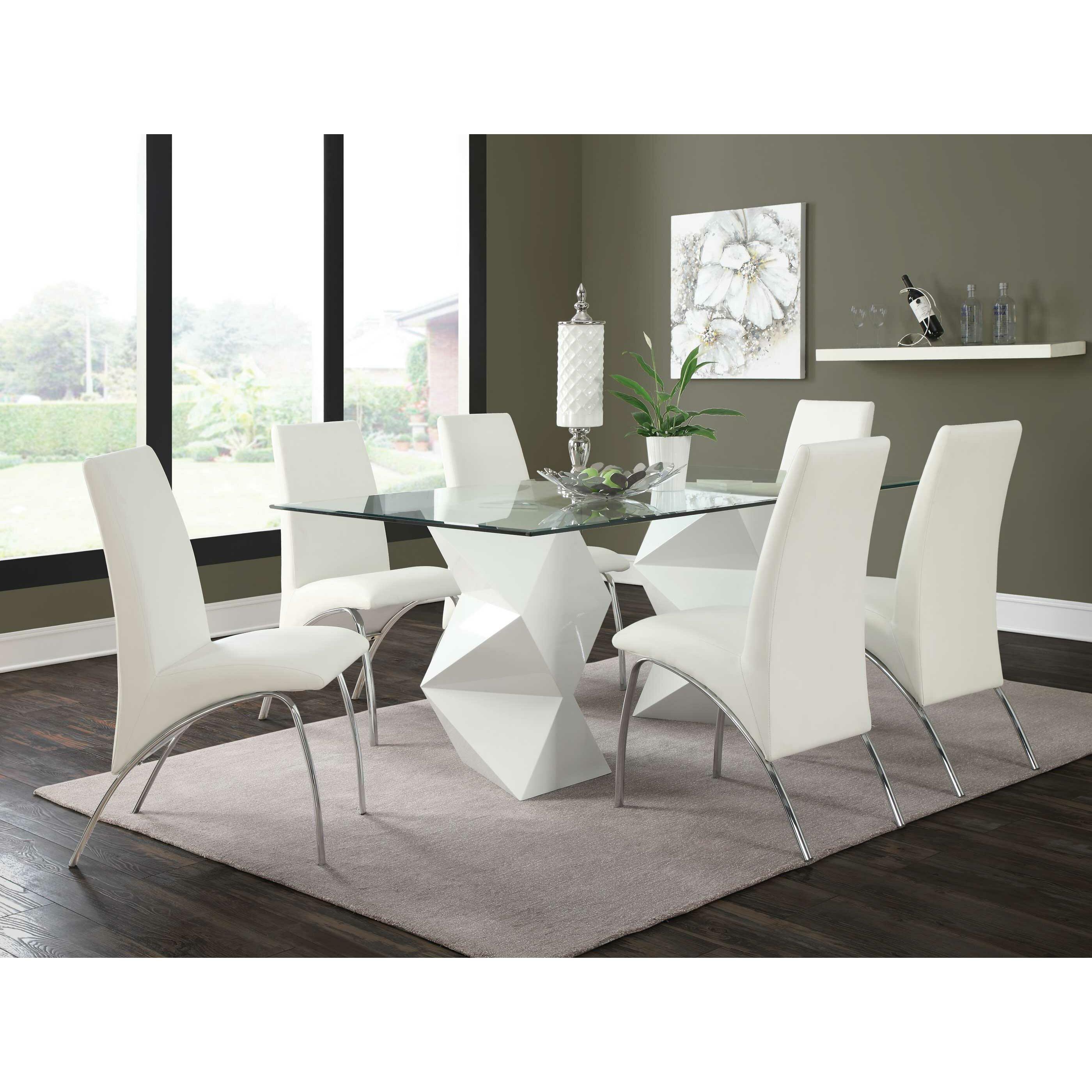 Wade logan delilah dining table reviews wayfair for Sofa esstisch
