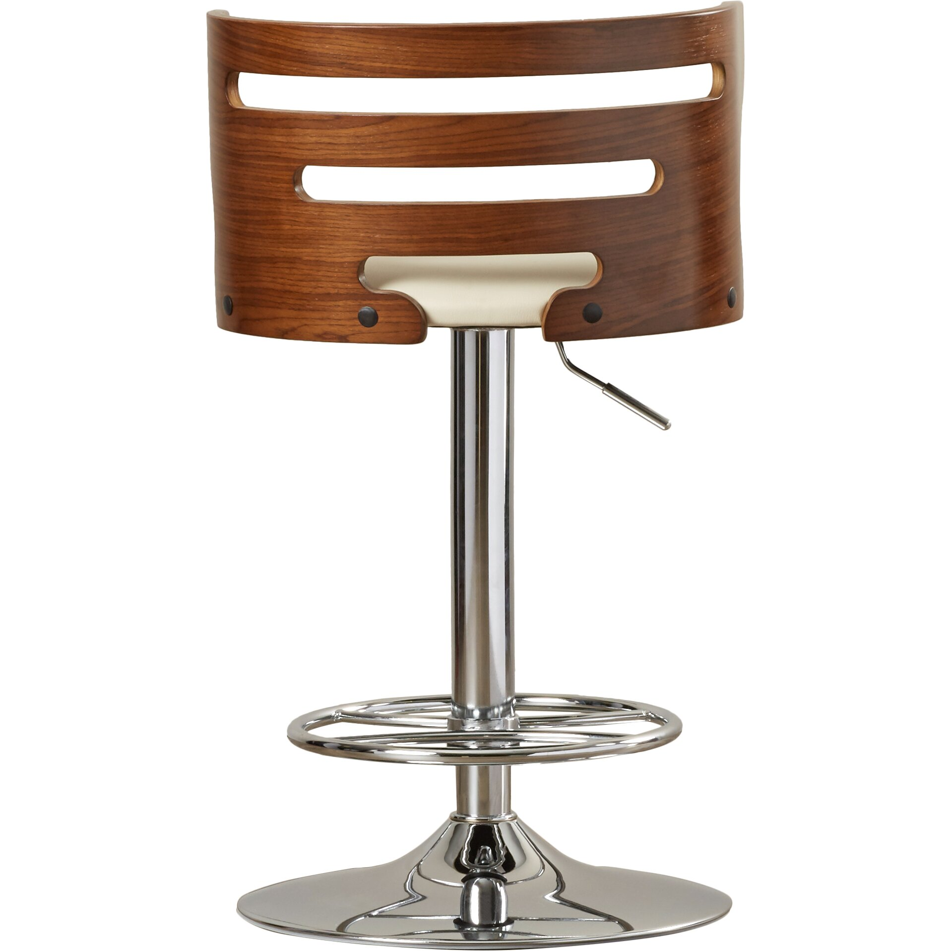 Wade Logan Broward Adjustable Height Swivel Bar Stool