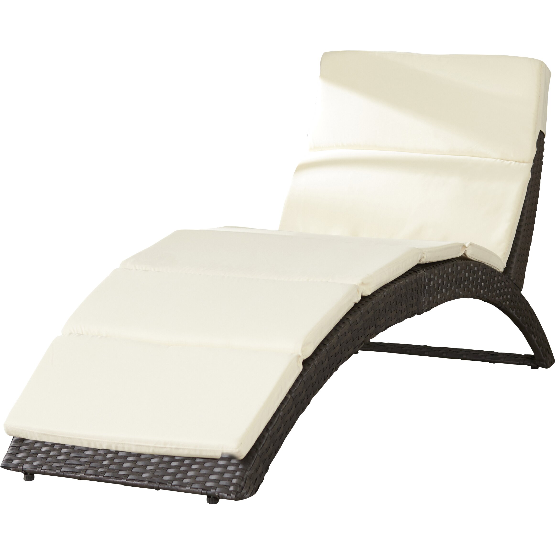 Wade logan johnathan chaise lounge with cushion reviews for Chaise longue cushion