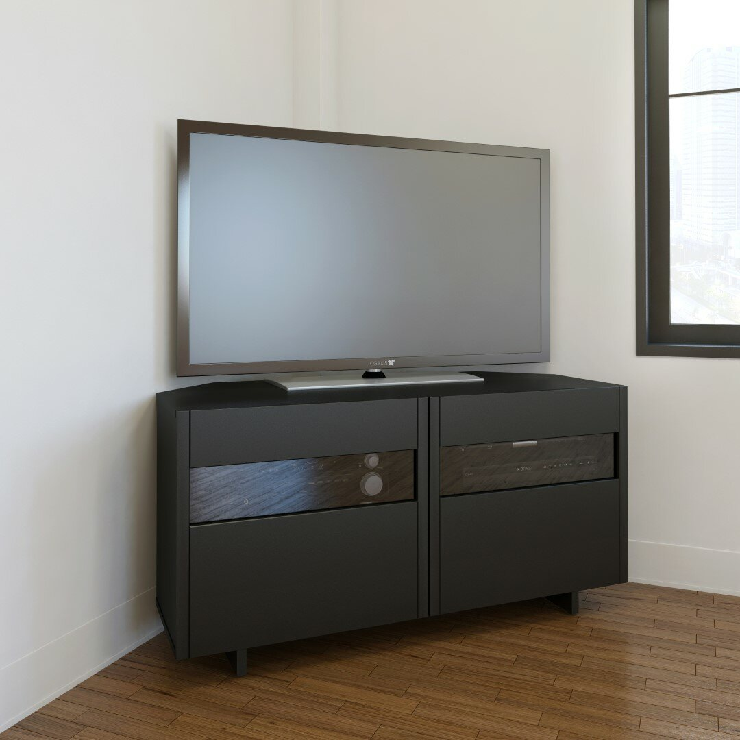wade logan hopewell corner tv stand reviews wayfair. Black Bedroom Furniture Sets. Home Design Ideas