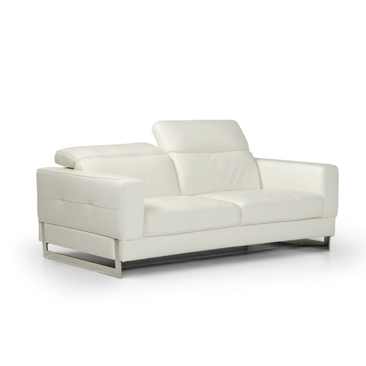 Wade Logan Rodolfo Modern Leather Sofa Set Wayfair