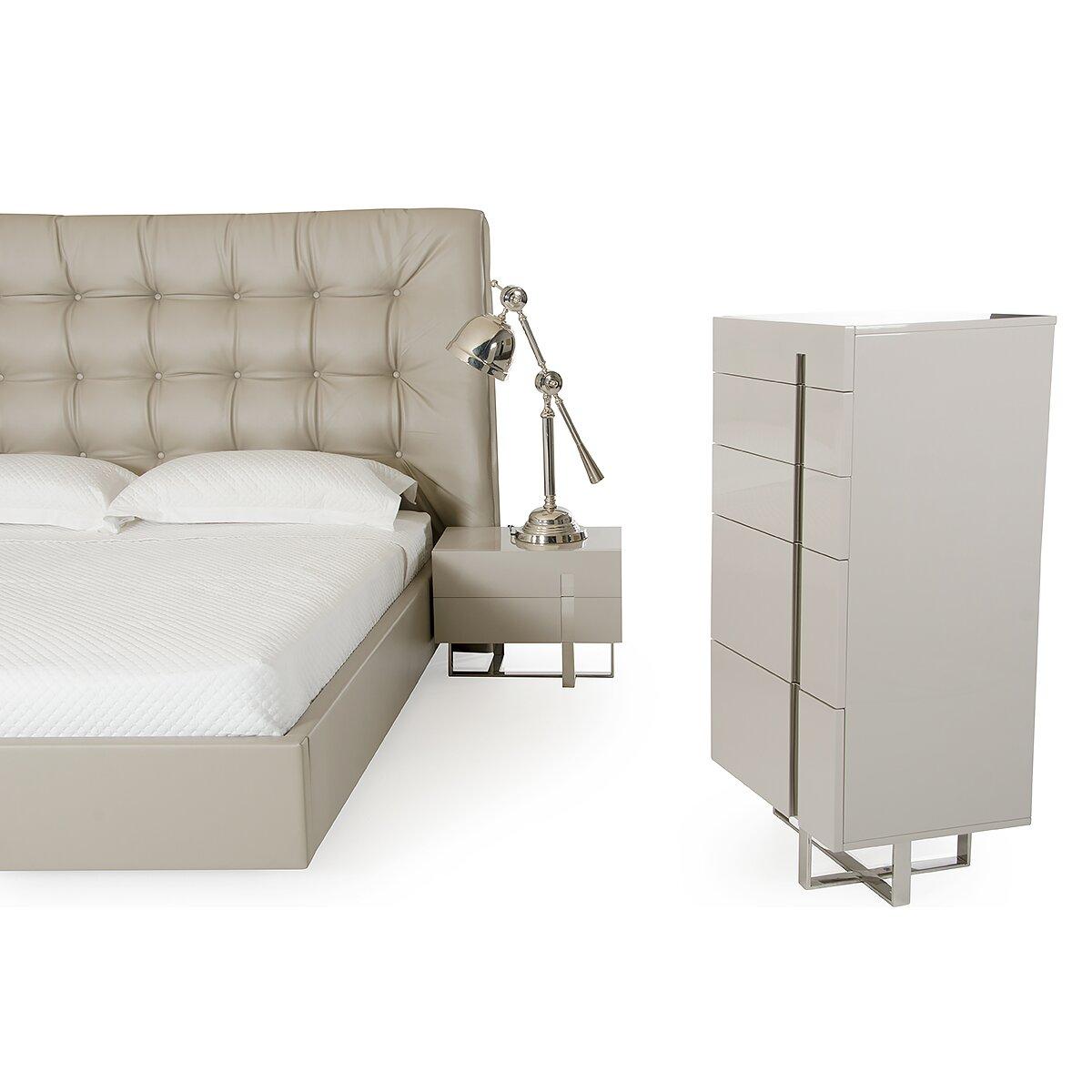 Wade Logan Carter Upholstered Platform Bed Wayfair