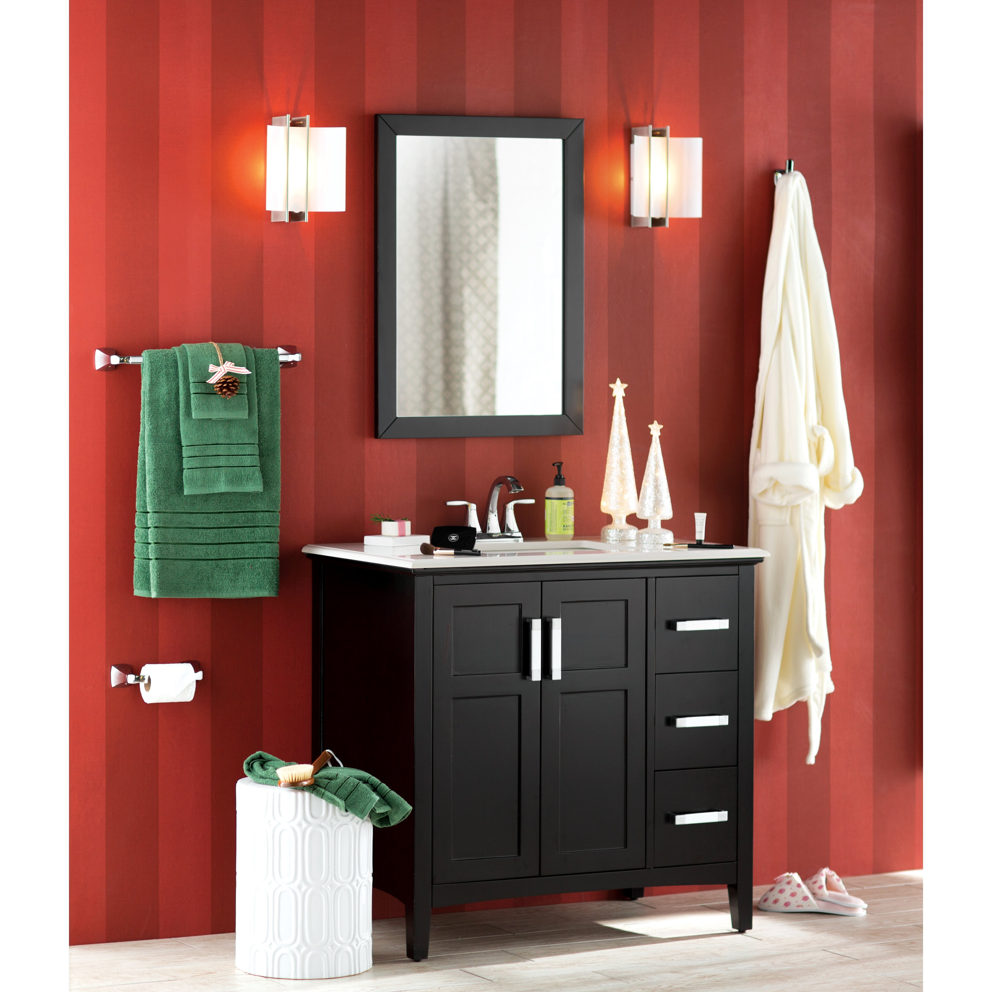 wade logan elmer bathroom vanity mirror reviews wayfair. Black Bedroom Furniture Sets. Home Design Ideas