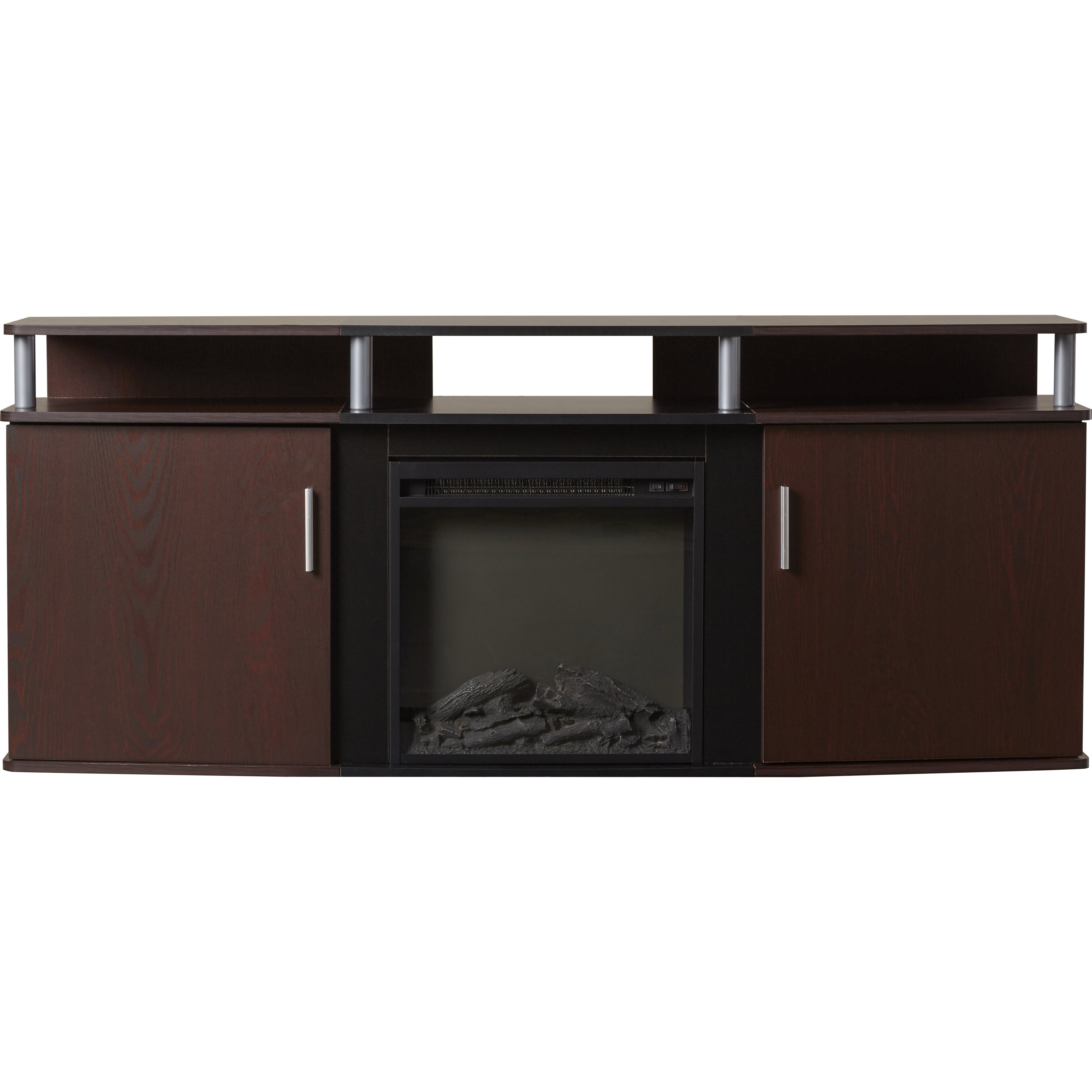 Wade Logan Elian Tv Stand With Electric Fireplace