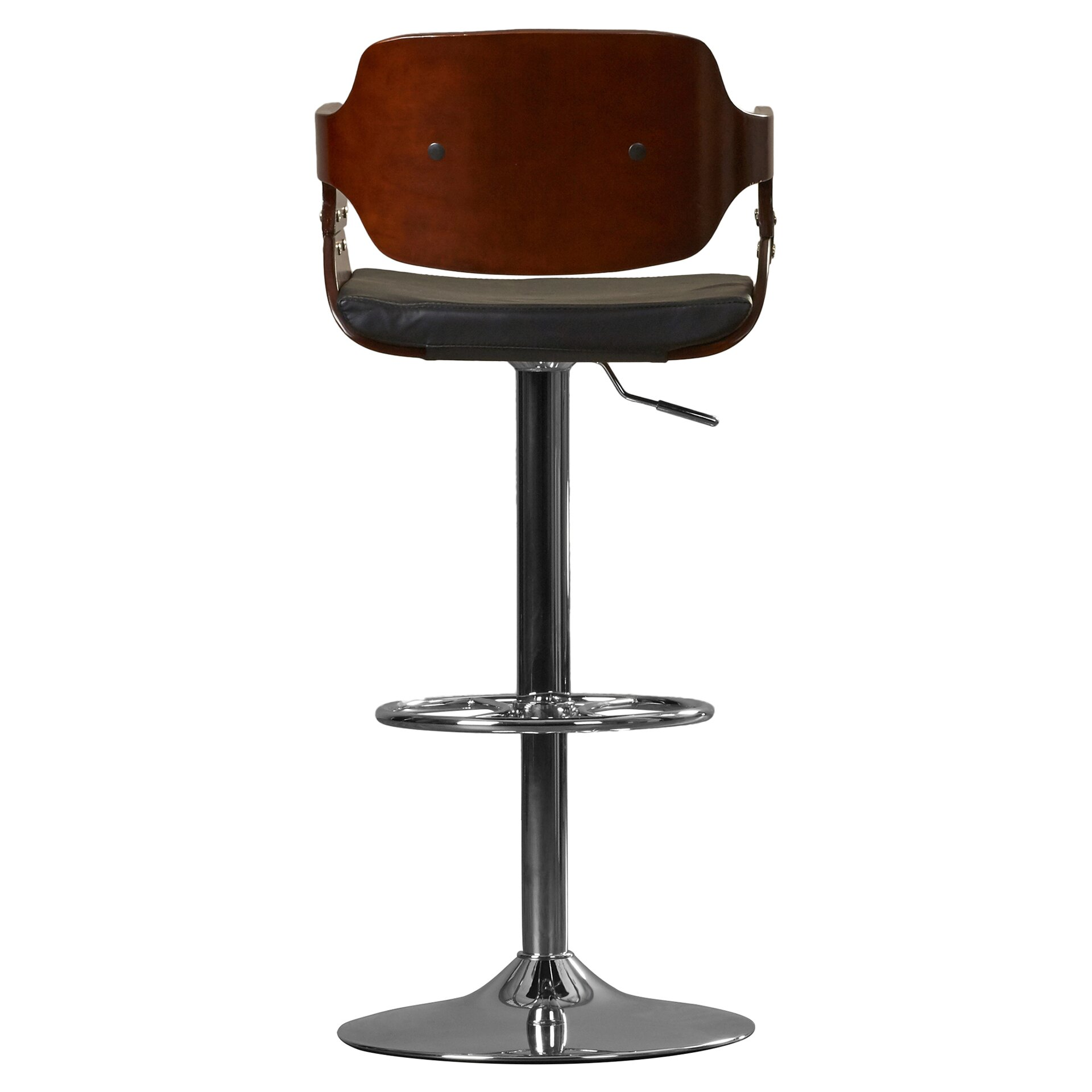 Corrigan Studio Adjustable Height Swivel Bar Stool