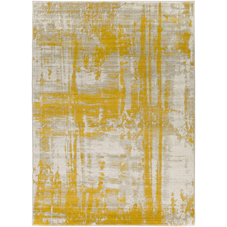 Langley Street Dahl Light Gray/Gold Area Rug u0026 Reviews : Wayfair