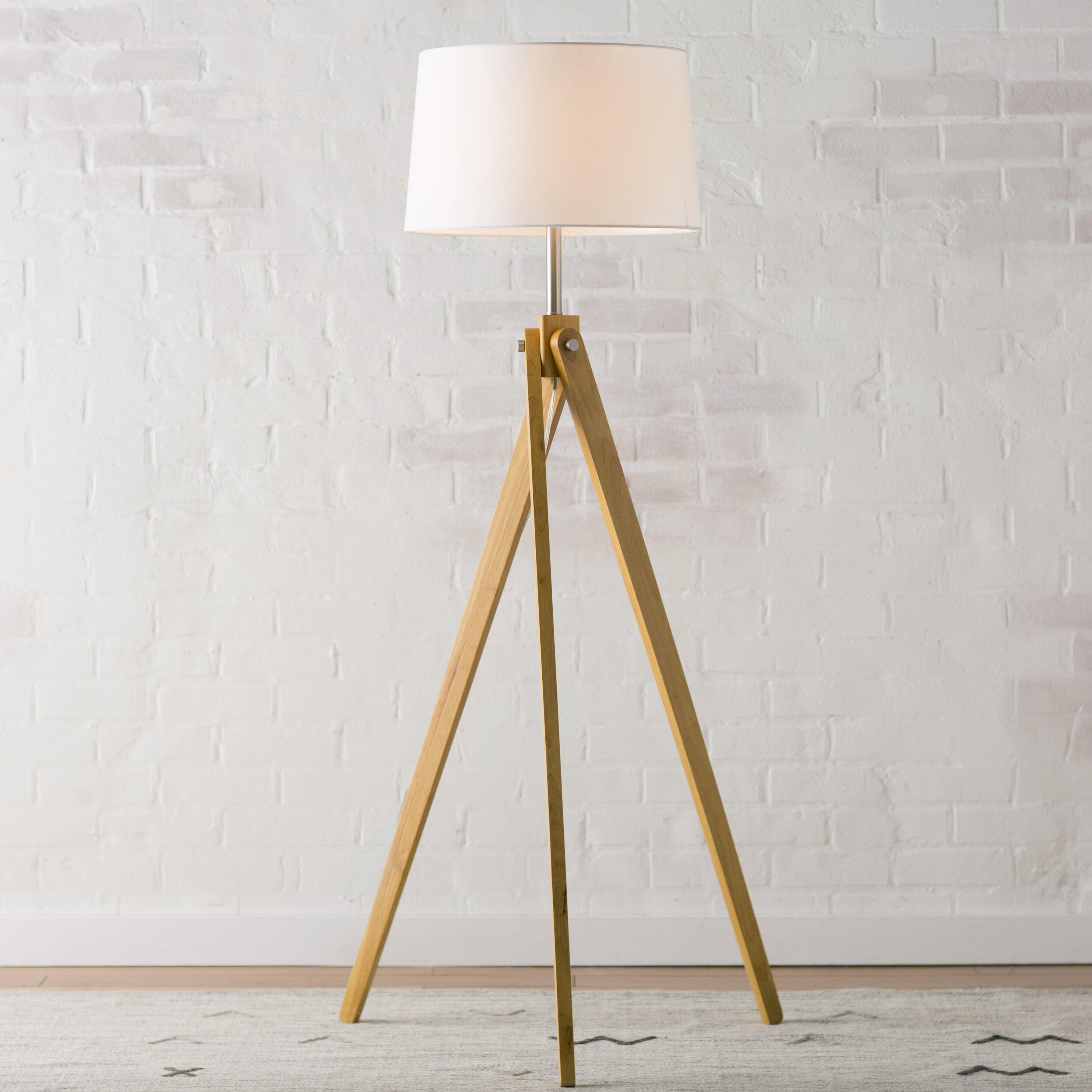 lighting lamps contemporary floor lamps langley street sku. Black Bedroom Furniture Sets. Home Design Ideas