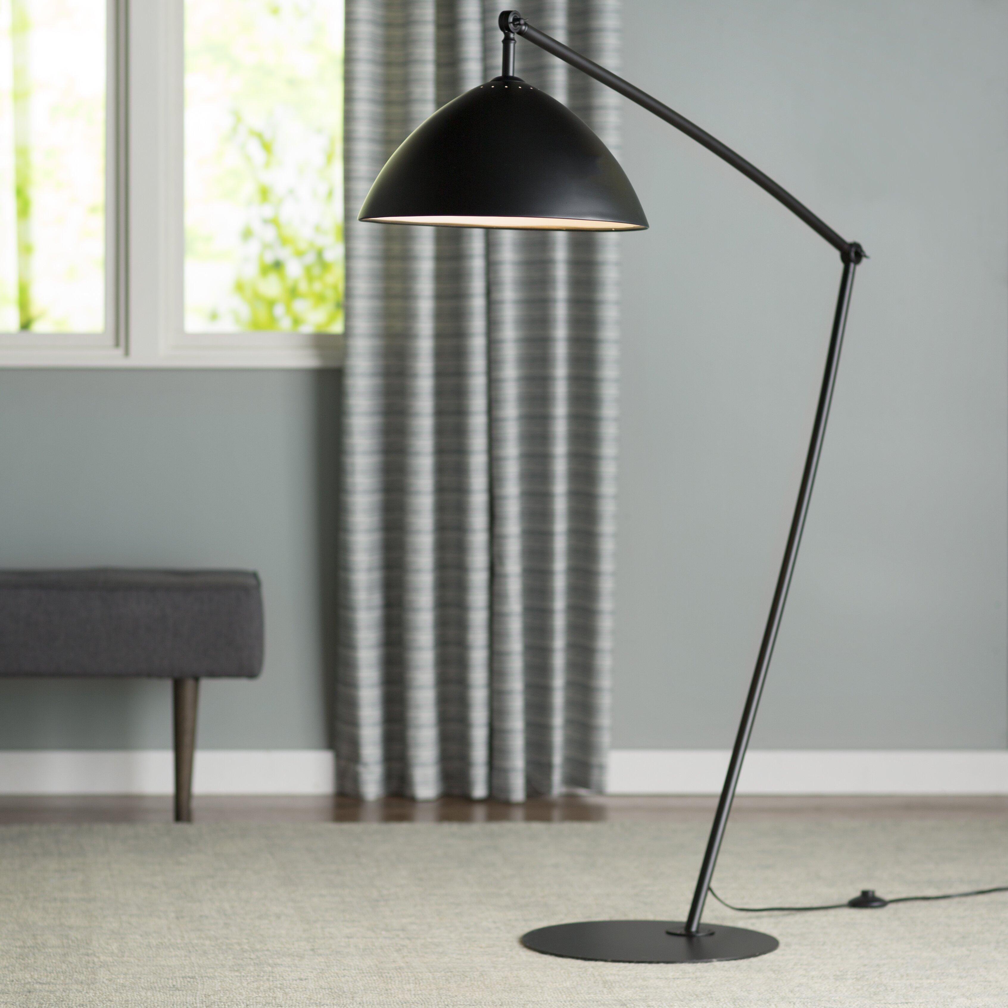 lighting lamps modern floor lamps langley street sku lgly1532. Black Bedroom Furniture Sets. Home Design Ideas
