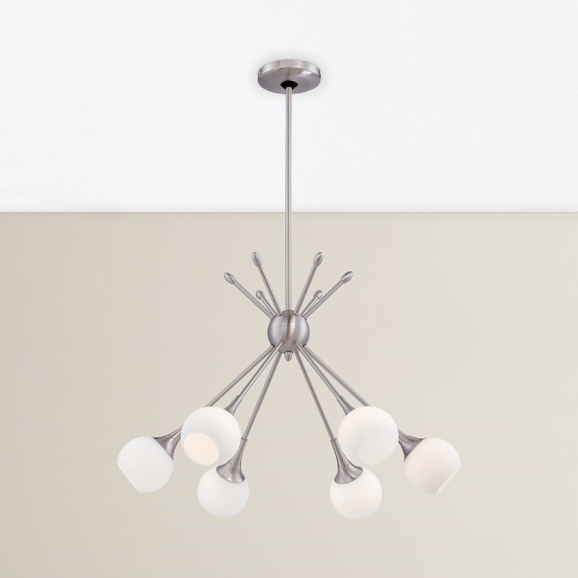 Langley street drexler 6 light sputnik chandelier for Sputnik chandelier