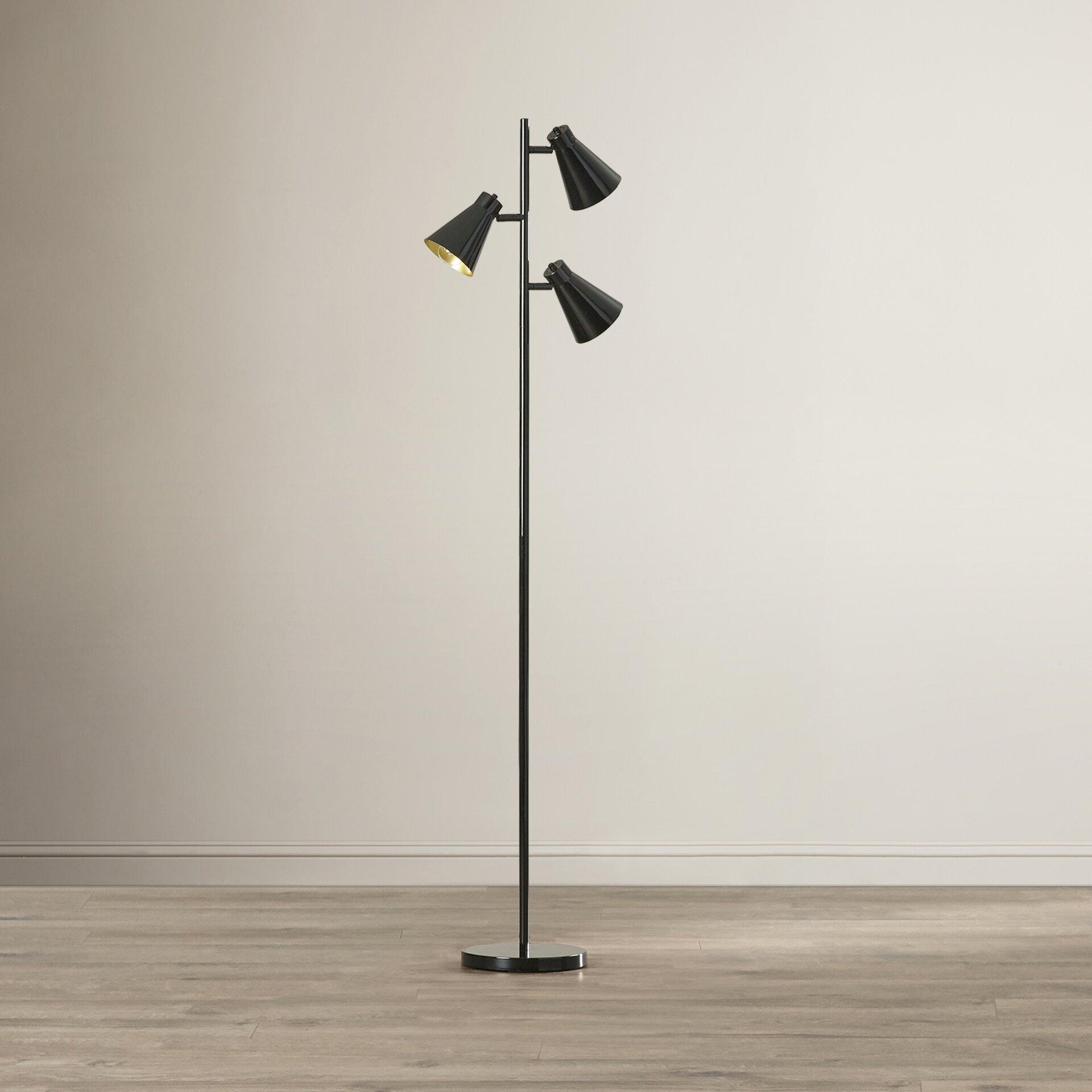 lighting lamps coastal floor lamps langley street sku lgly2253. Black Bedroom Furniture Sets. Home Design Ideas