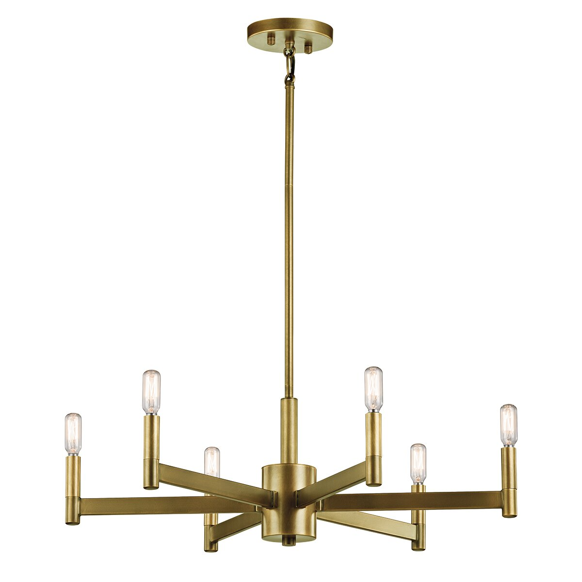 Budget-friendly brass chandeliers
