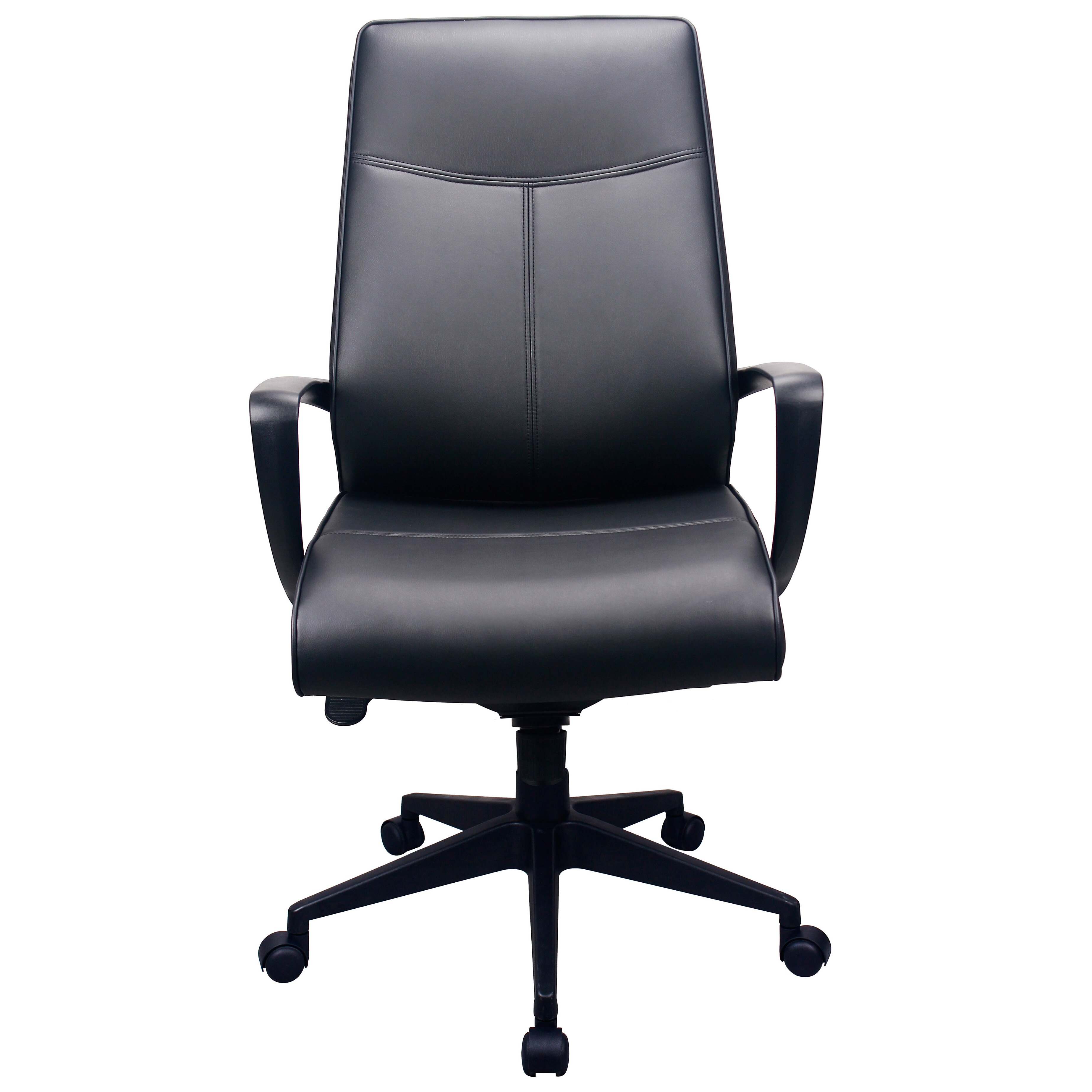 Tempur pedic high back leather executive office chair with for High back leather chairs
