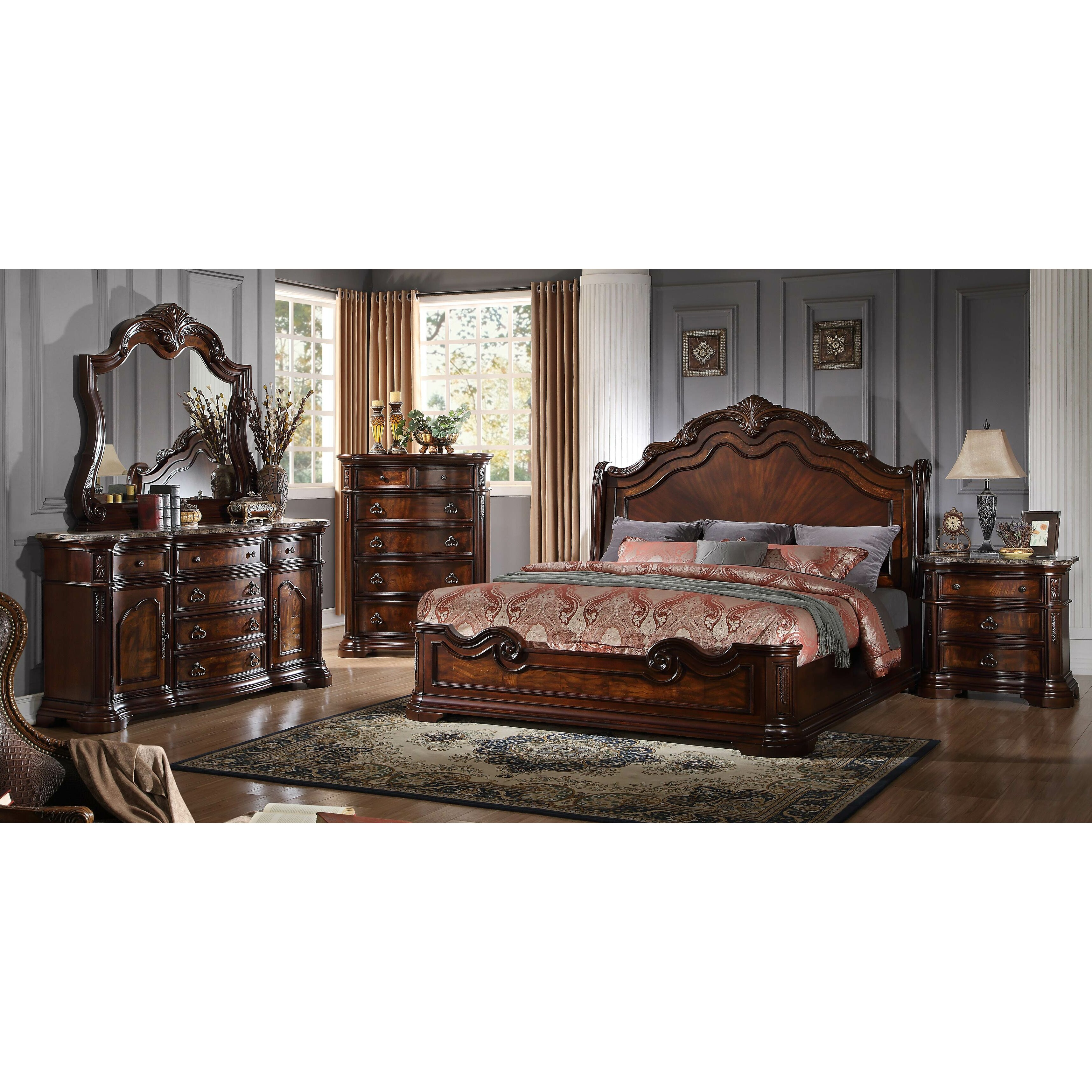 Bestmasterfurniture Panel 5 Piece Bedroom Set Reviews