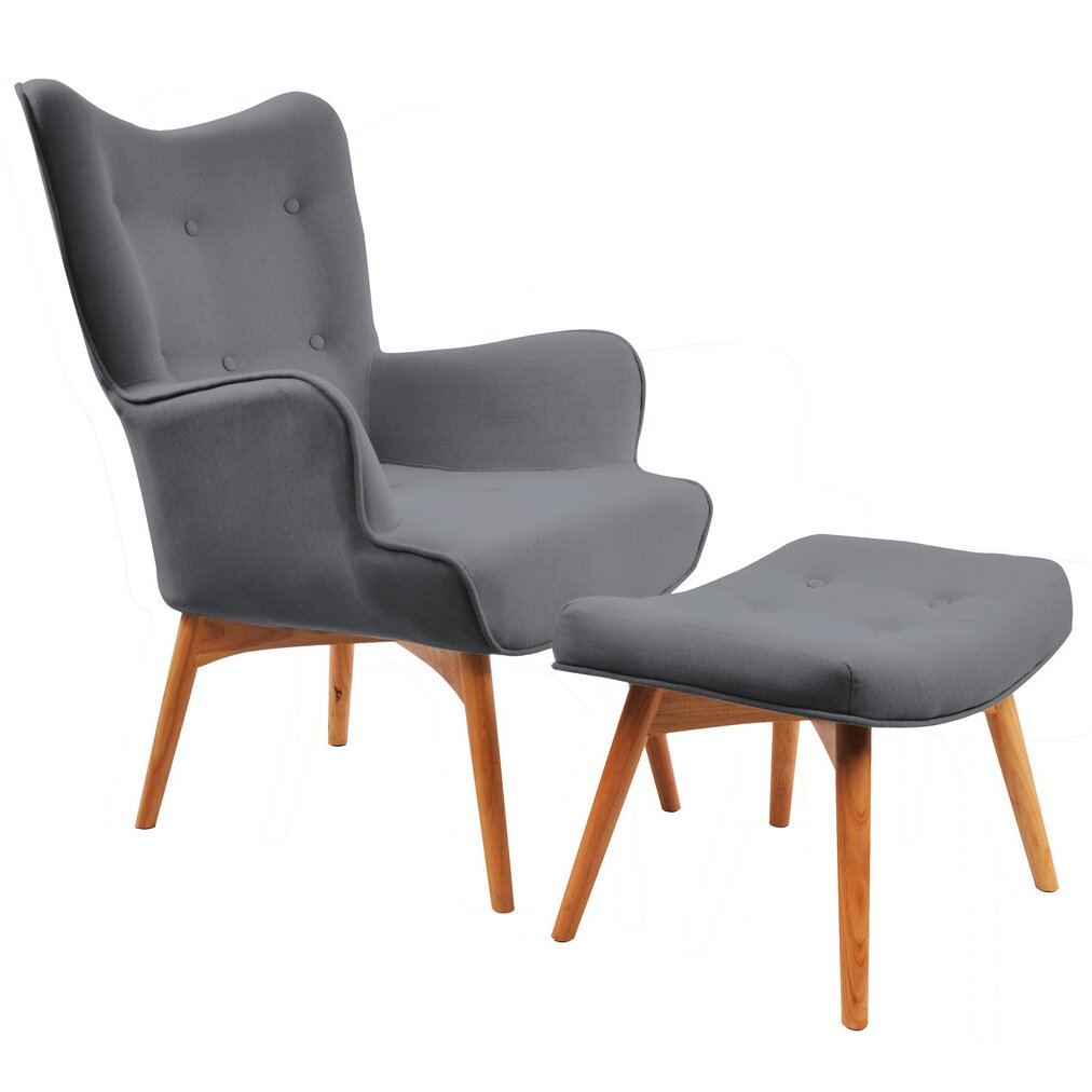 nspire Retro Wingback Arm Chair with Ottoman & Reviews