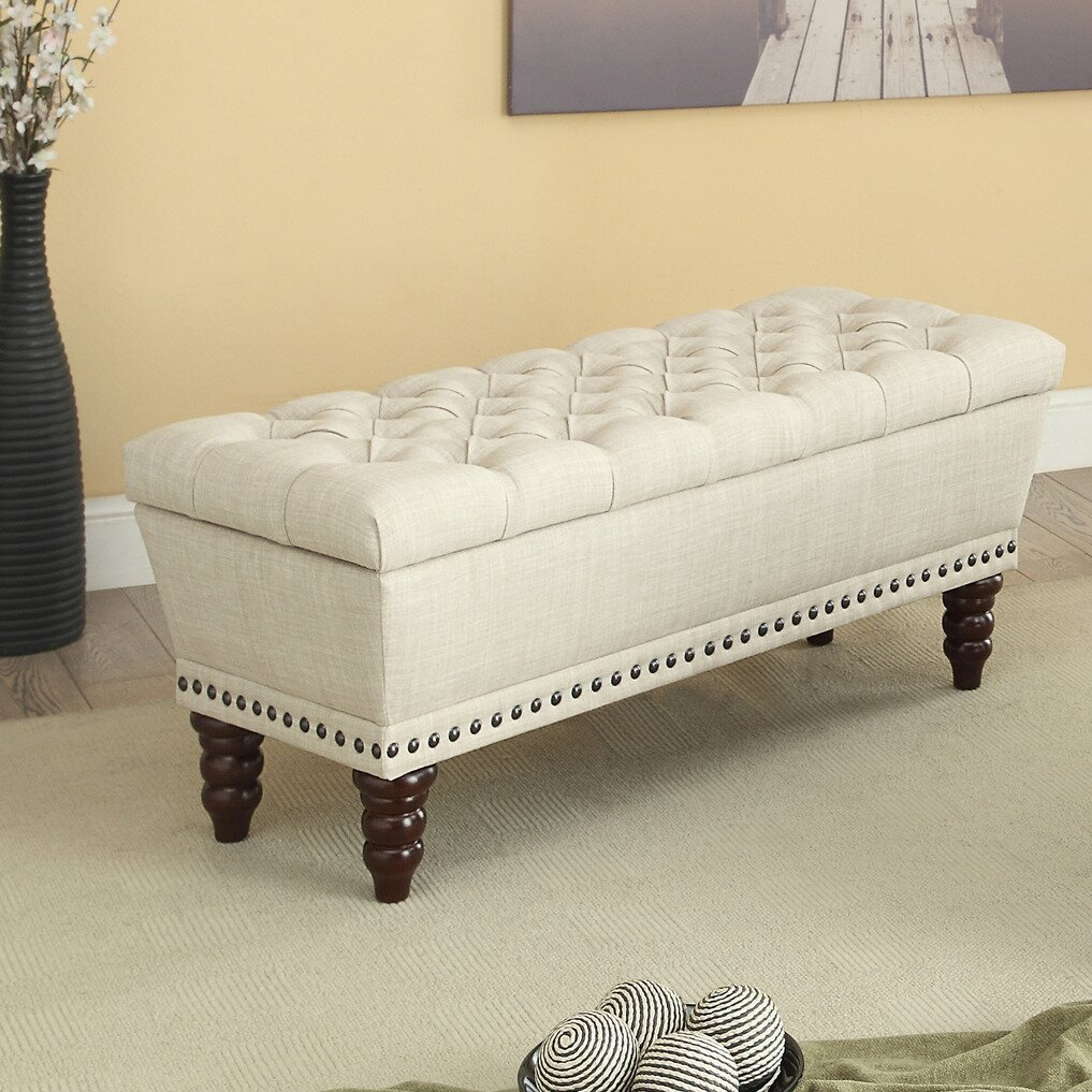 Nspire Upholstered Storage Bench Reviews Wayfair