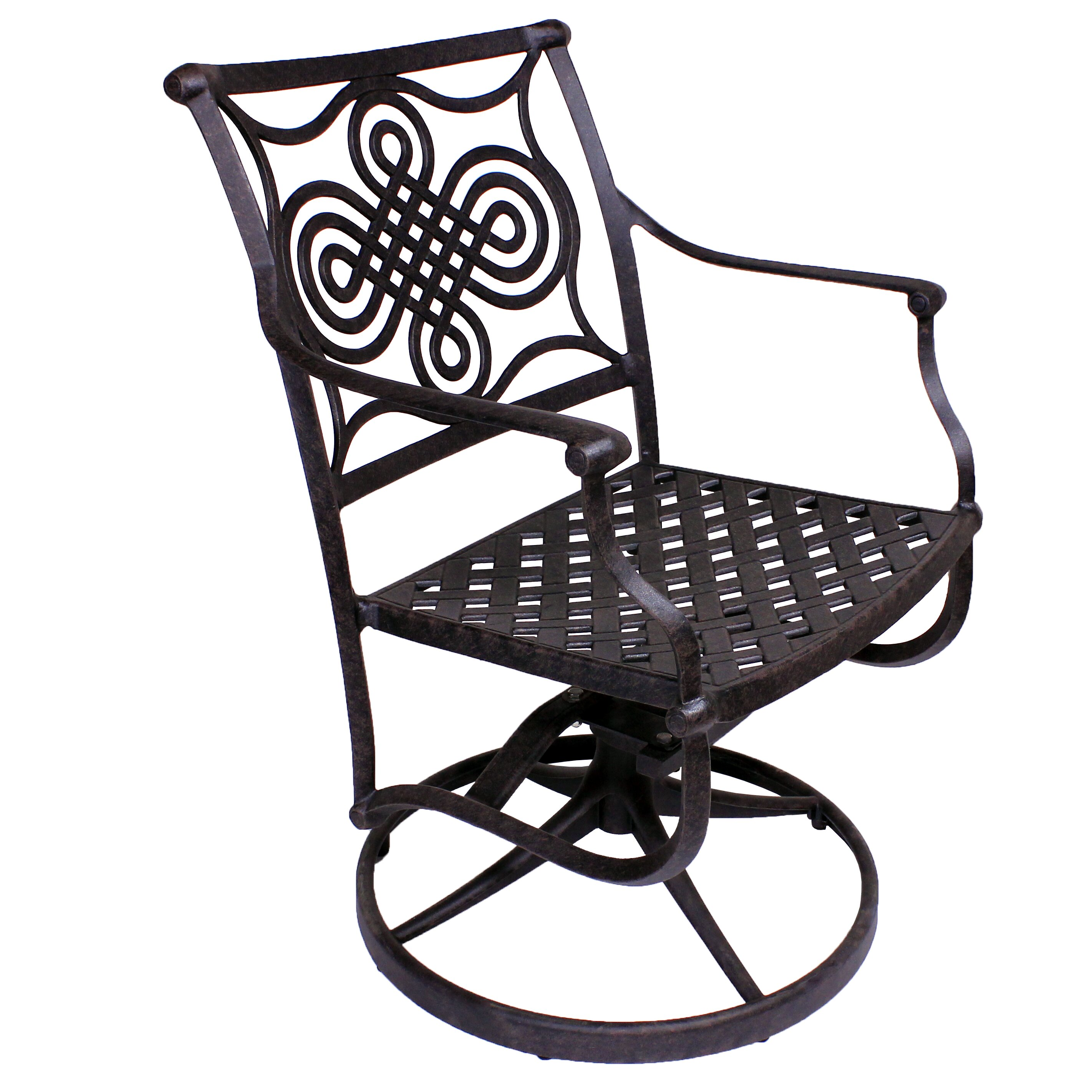... Designs Bermuda Swivel Rocker Dining Arm Chair with Sunbrella Cushion
