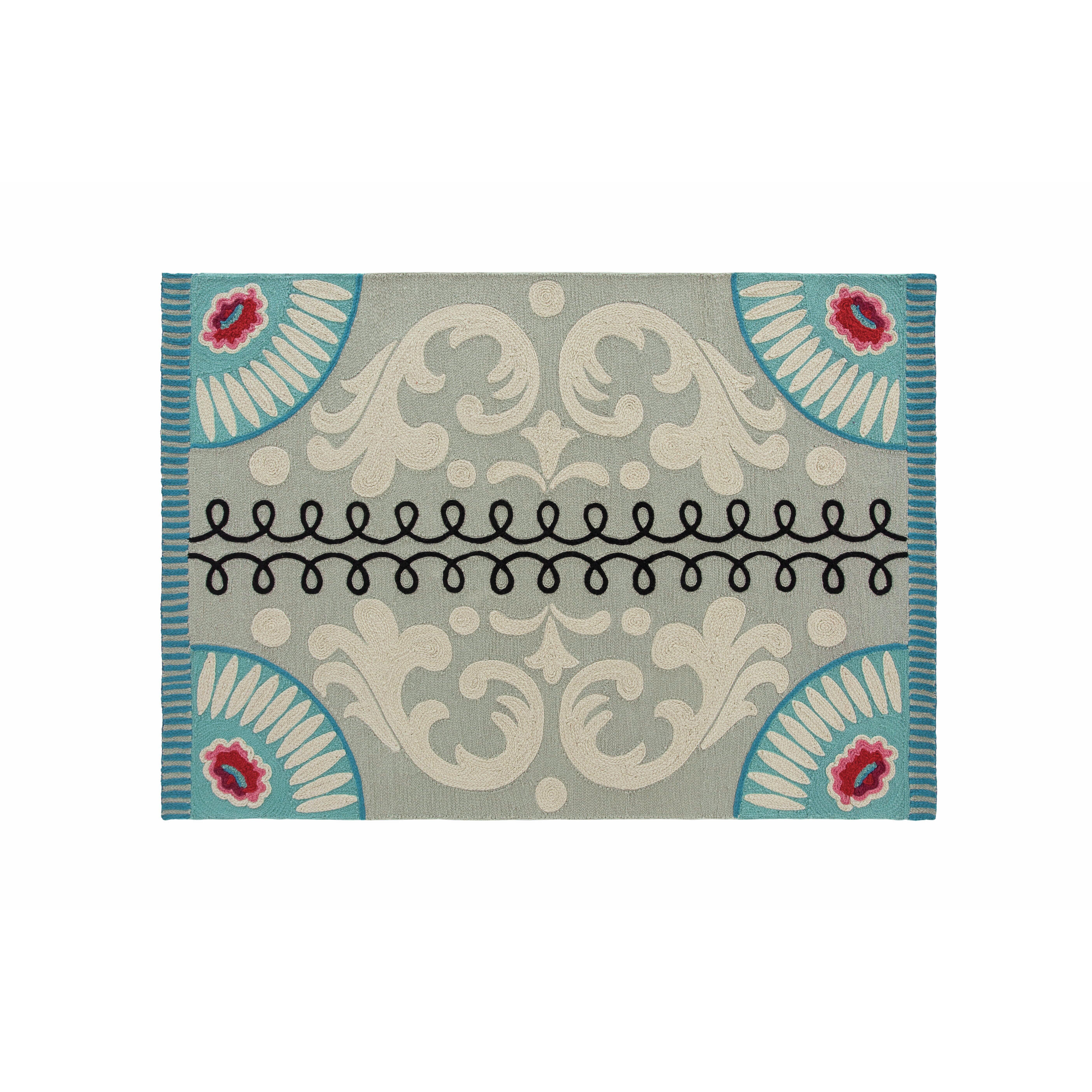 gan rugs cedeneta goyescas blue area rug wayfair. Black Bedroom Furniture Sets. Home Design Ideas