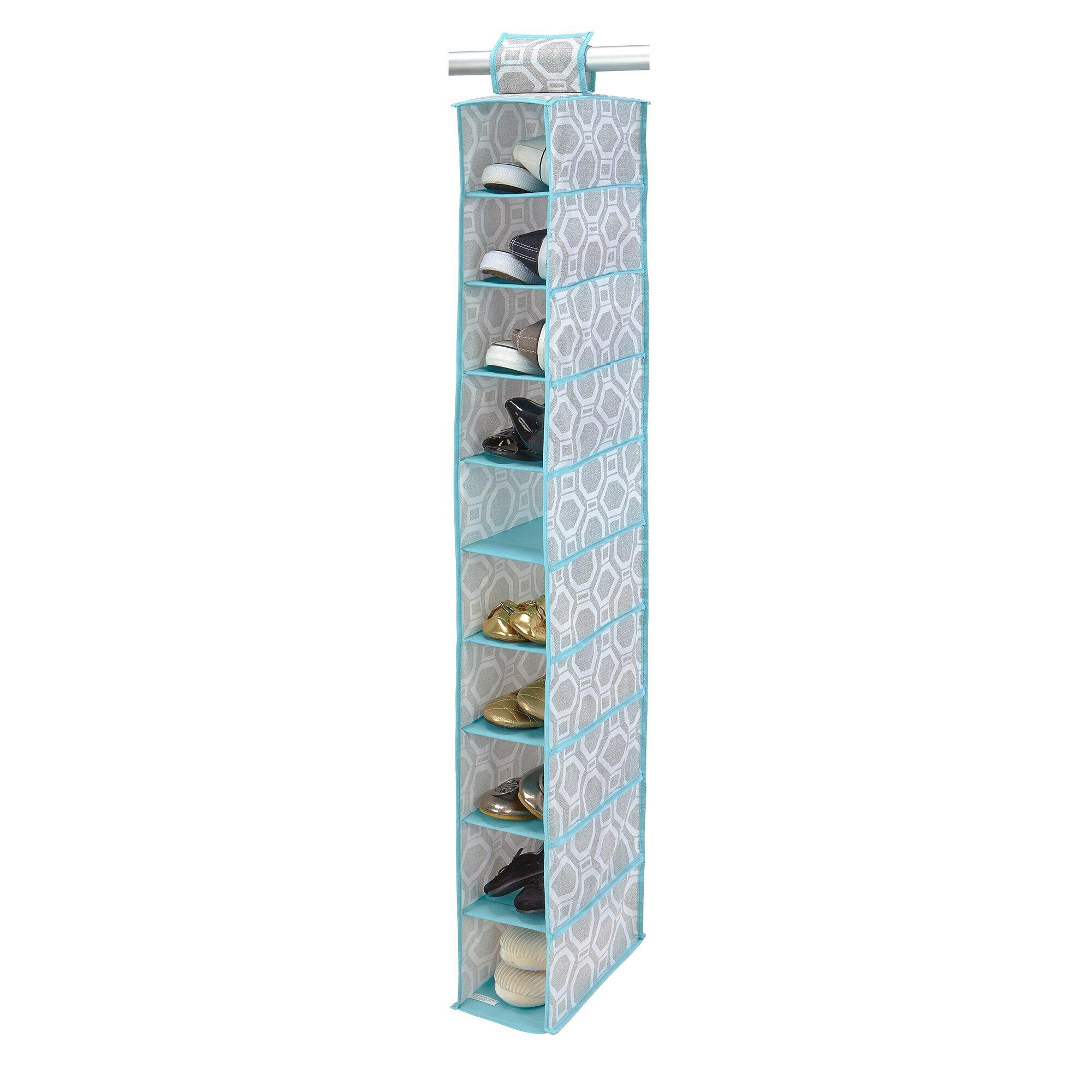 Closet Candie Dove 10 Compartment Hanging Shoe Organizer