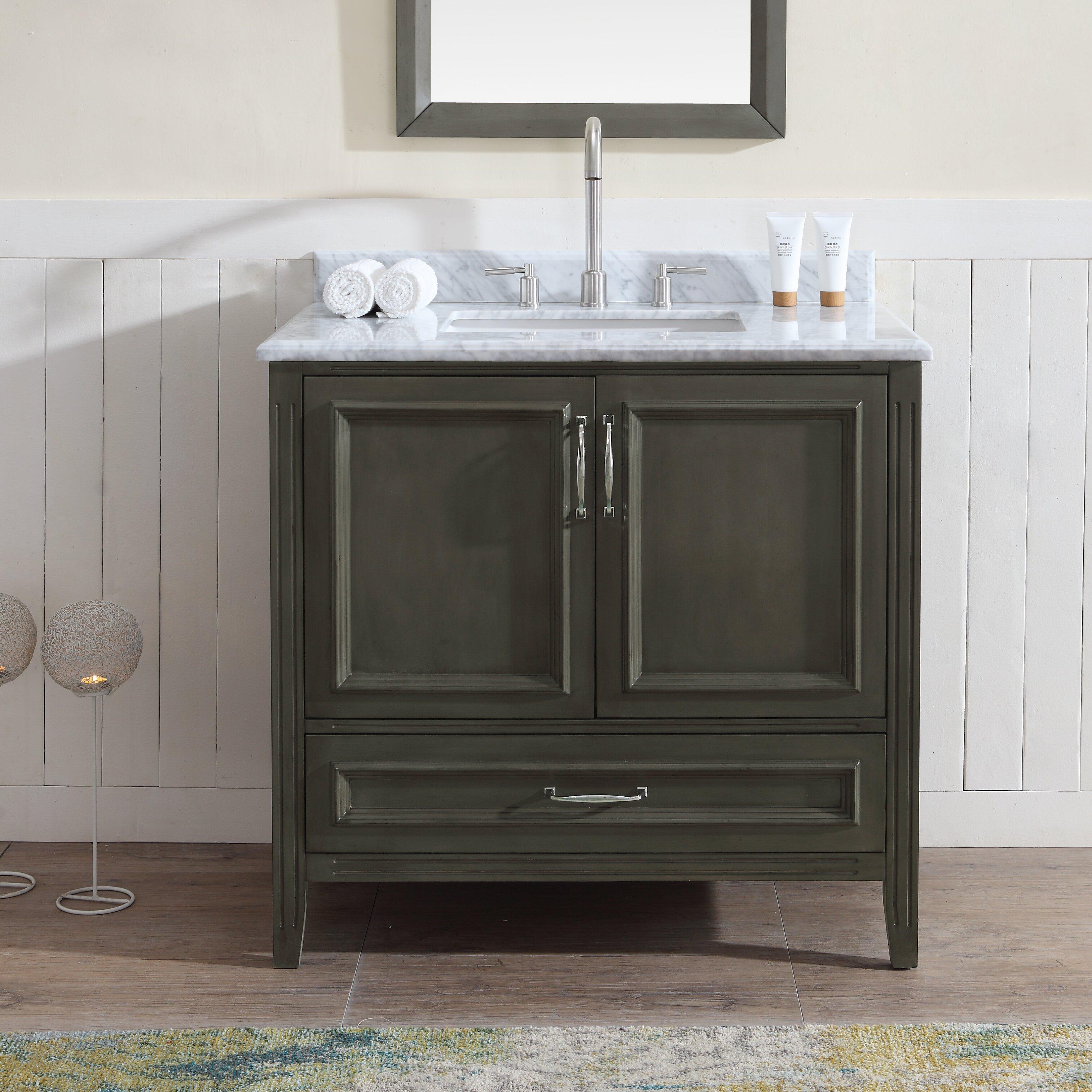 "Ari Kitchen & Bath Jude 36"" Single Bathroom Vanity Set"