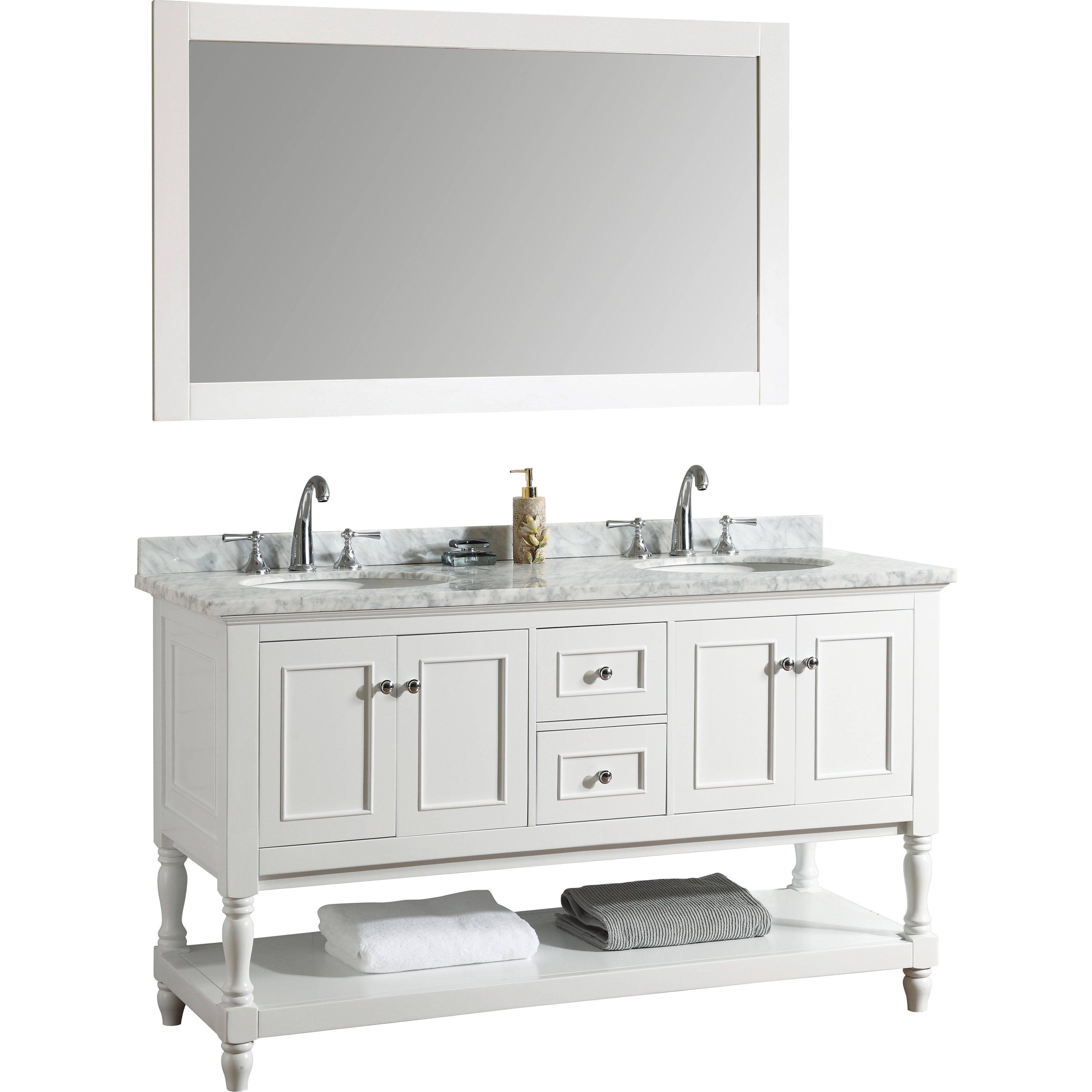 Ari kitchen bath cape cod 60 double bathroom vanity set for Bath and vanity set