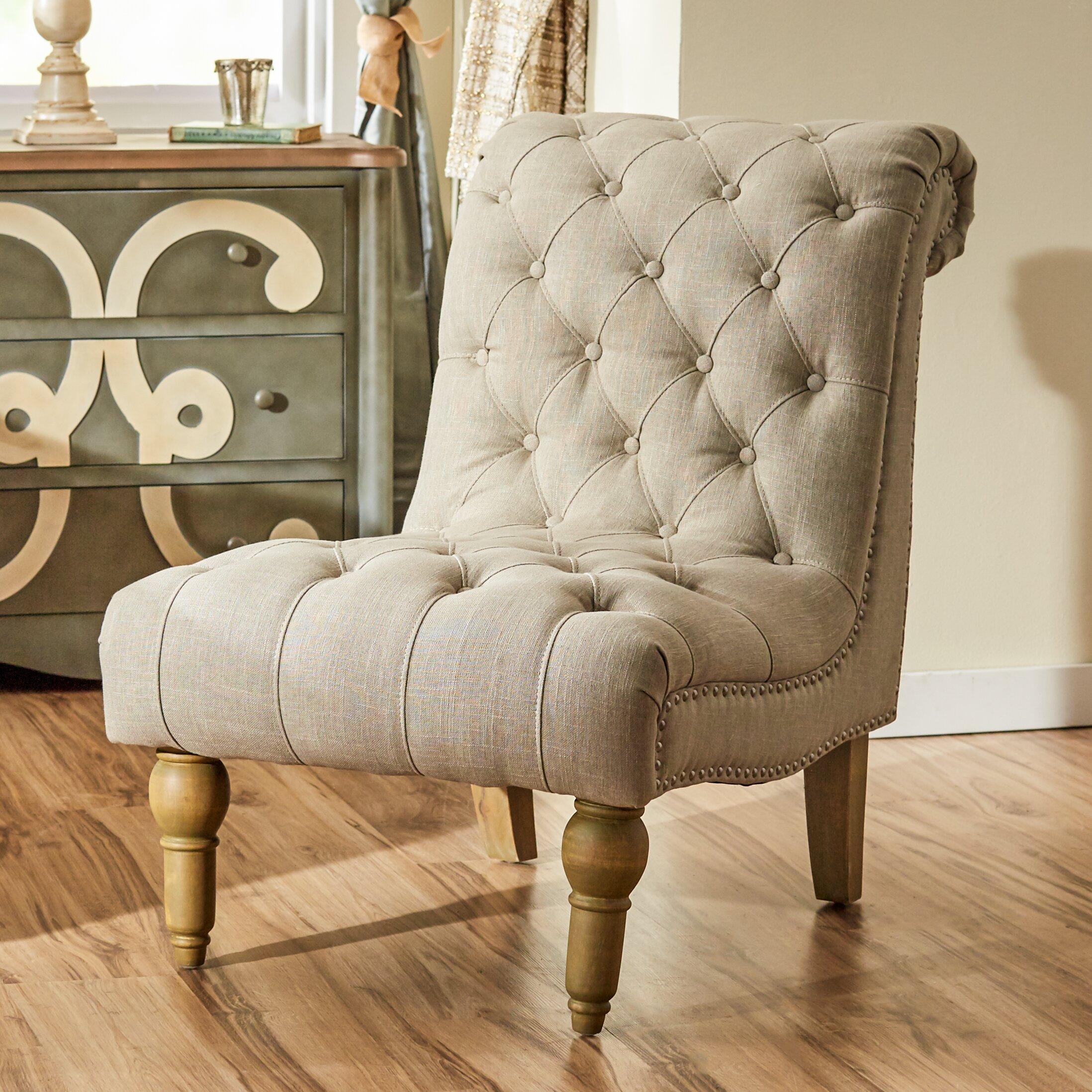 Lark manor versailles fabric slipper chair reviews for Slipper chair