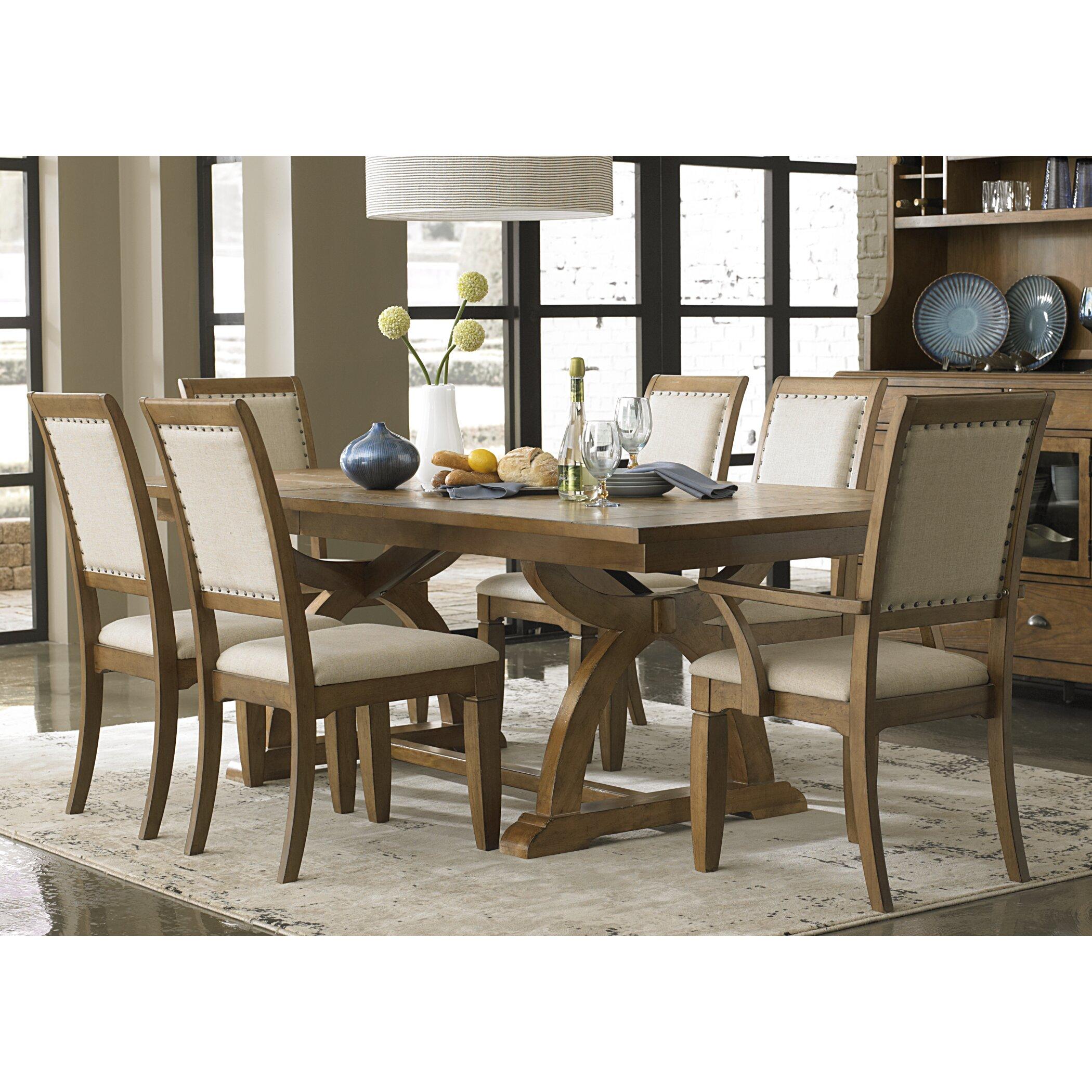 Lark manor 9 piece dining set reviews wayfair for Dining room tables 9 piece