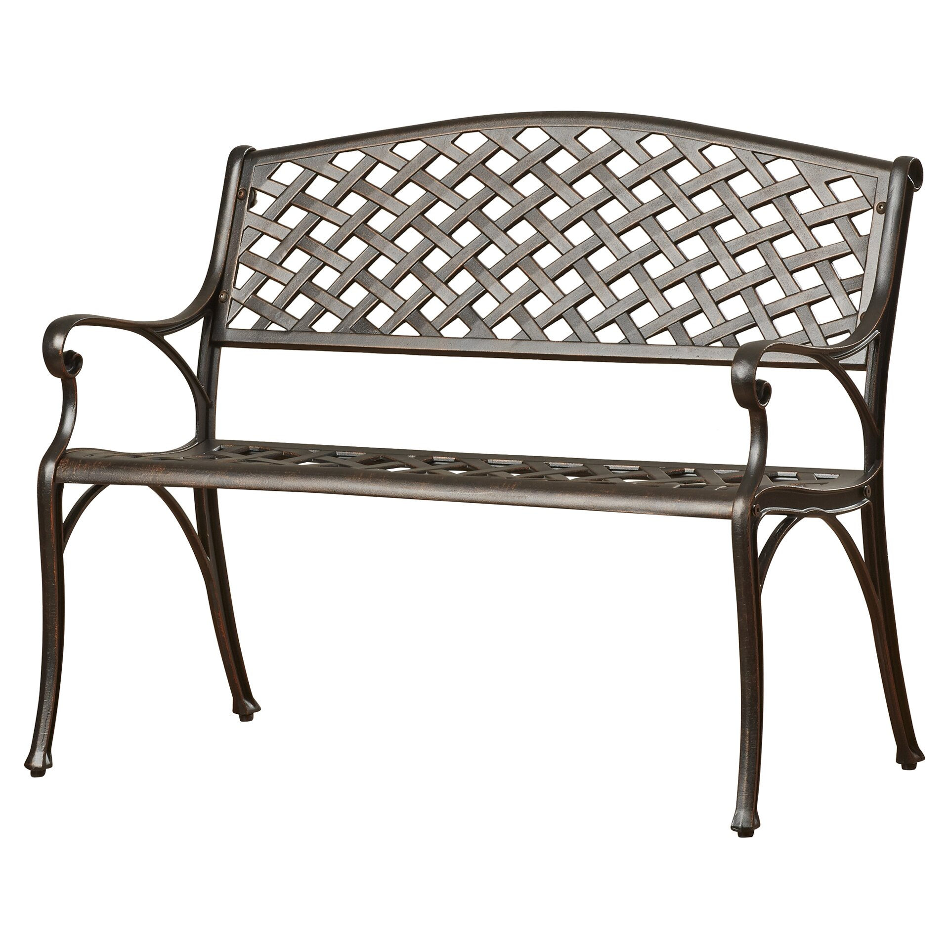 Lark manor nouvel aluminum garden bench reviews wayfair Aluminum benches