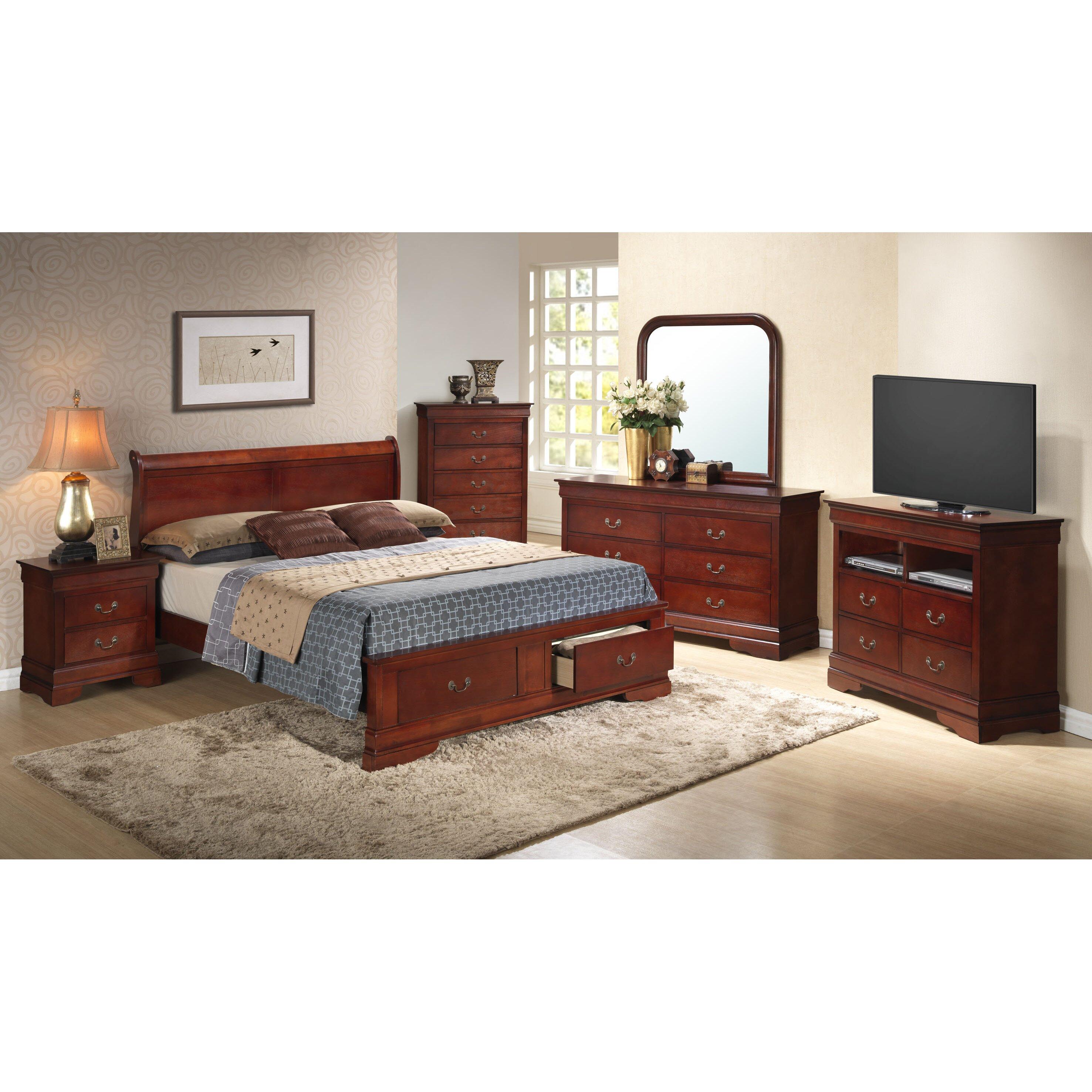 Wayfair Bedroom Furniture: Lark Manor Corbeil Panel Platform Customizable Bedroom Set