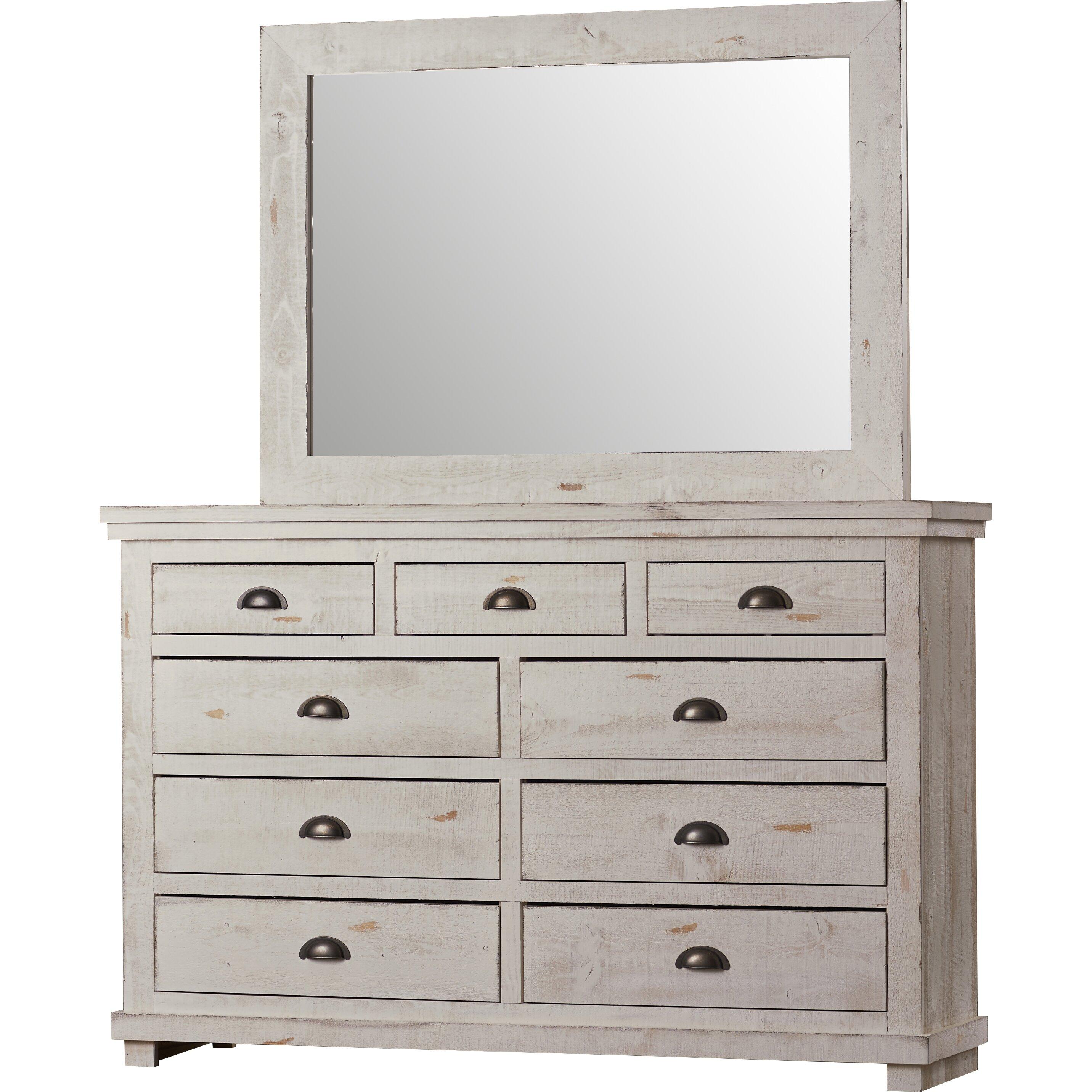 Lark Manor Assya 9 Drawer Dresser With Mirror Reviews