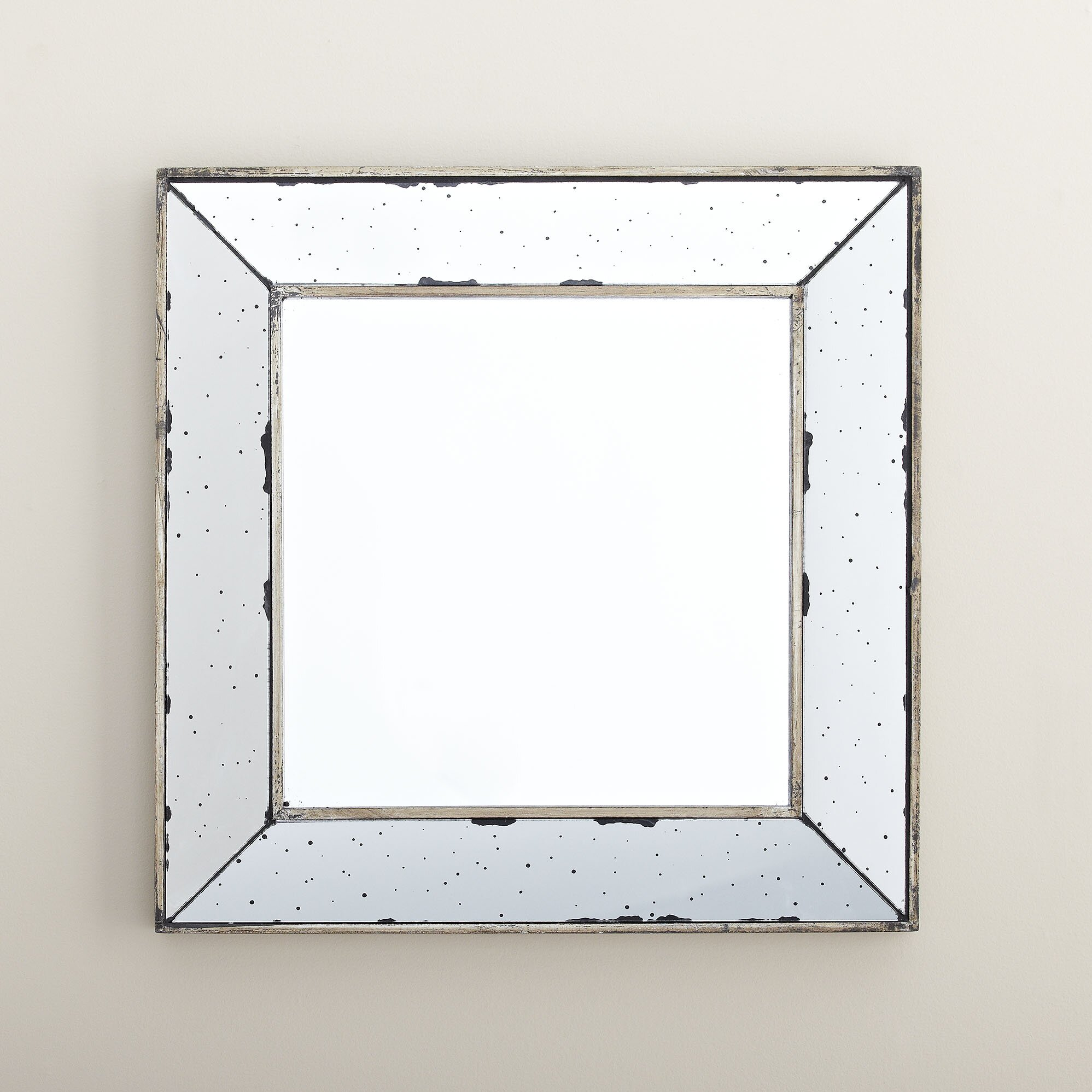 Lark manor square wall mirror reviews wayfair for Square mirror